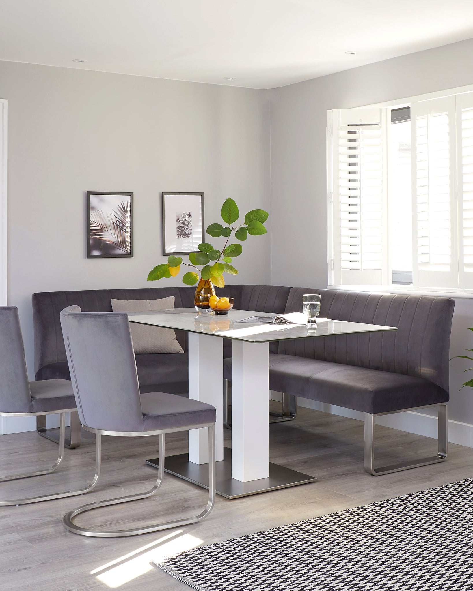 Marble Ceramic 6 Seater White Dining Table From Danetti