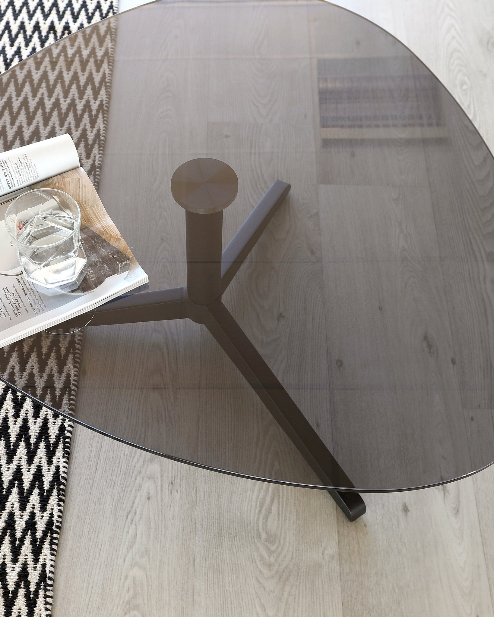 Ora Smoked Glass Coffee Table