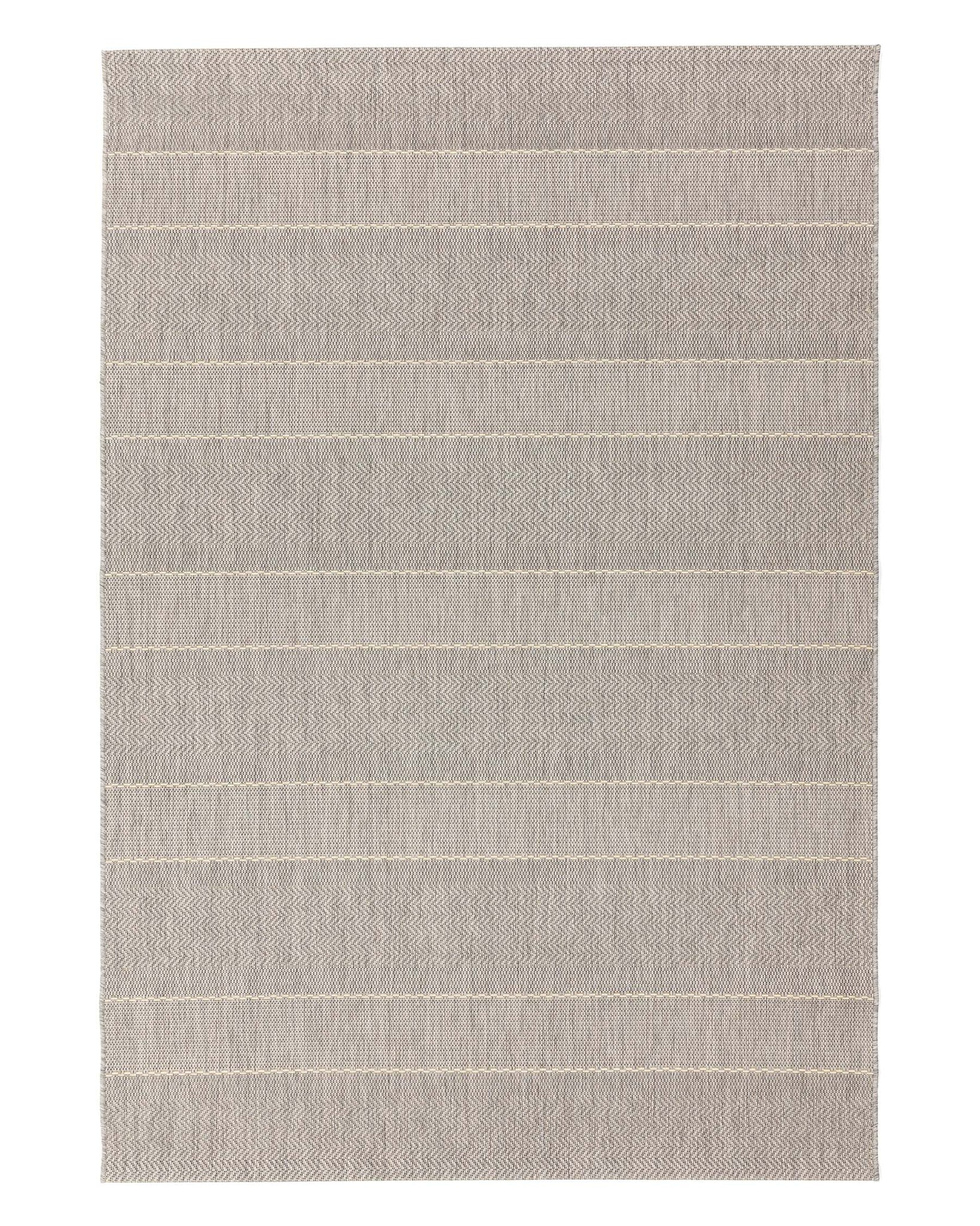 Natural Stripe Terrazza Small Garden Rug