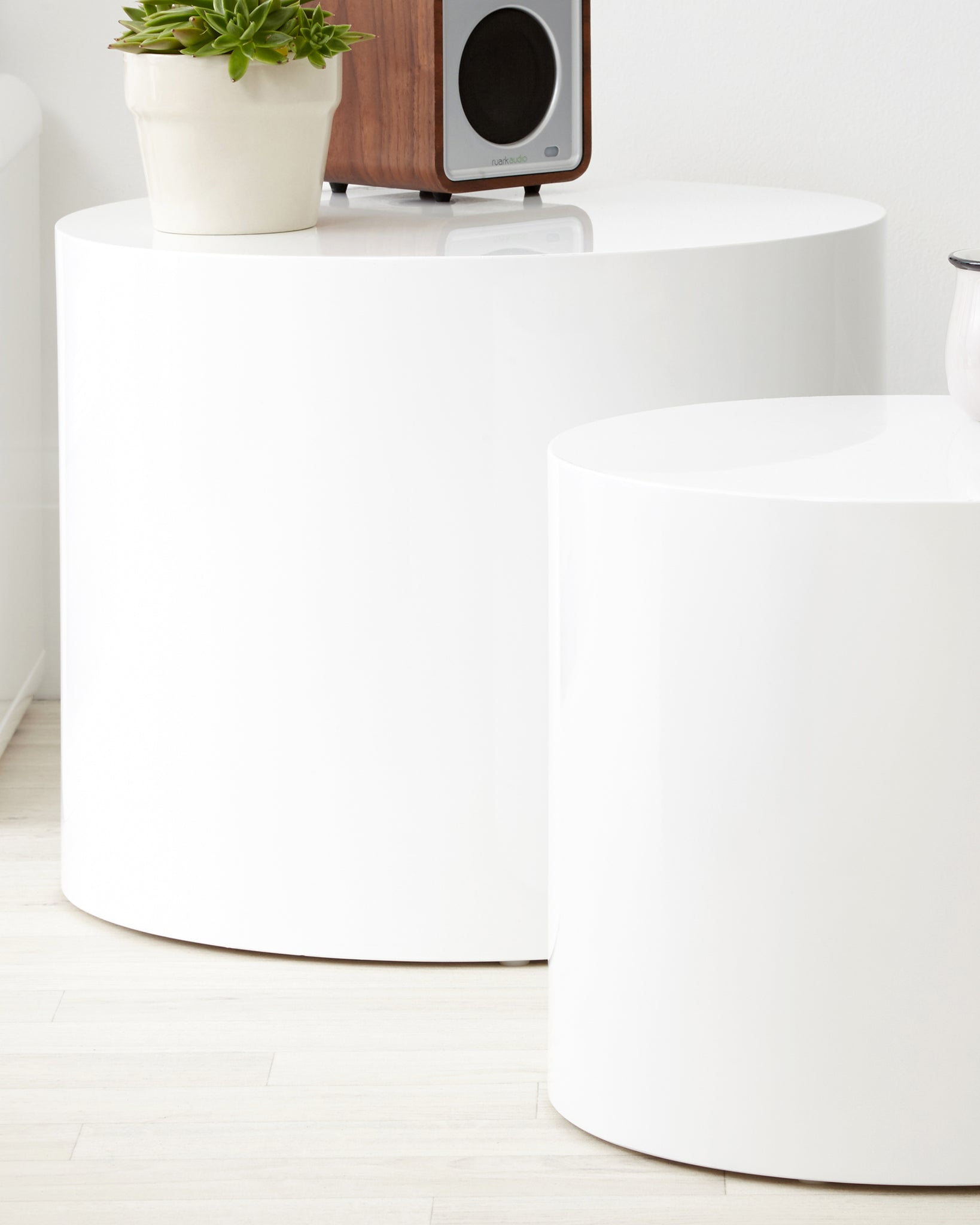 Pebble White Nesting Side Tables