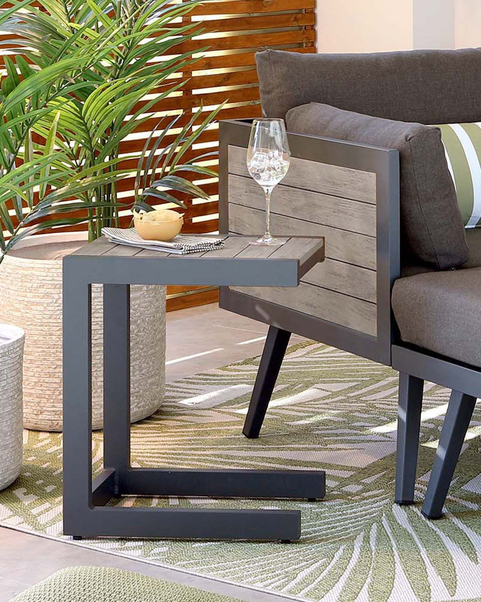 Pompeii Grey Outdoor Side Table