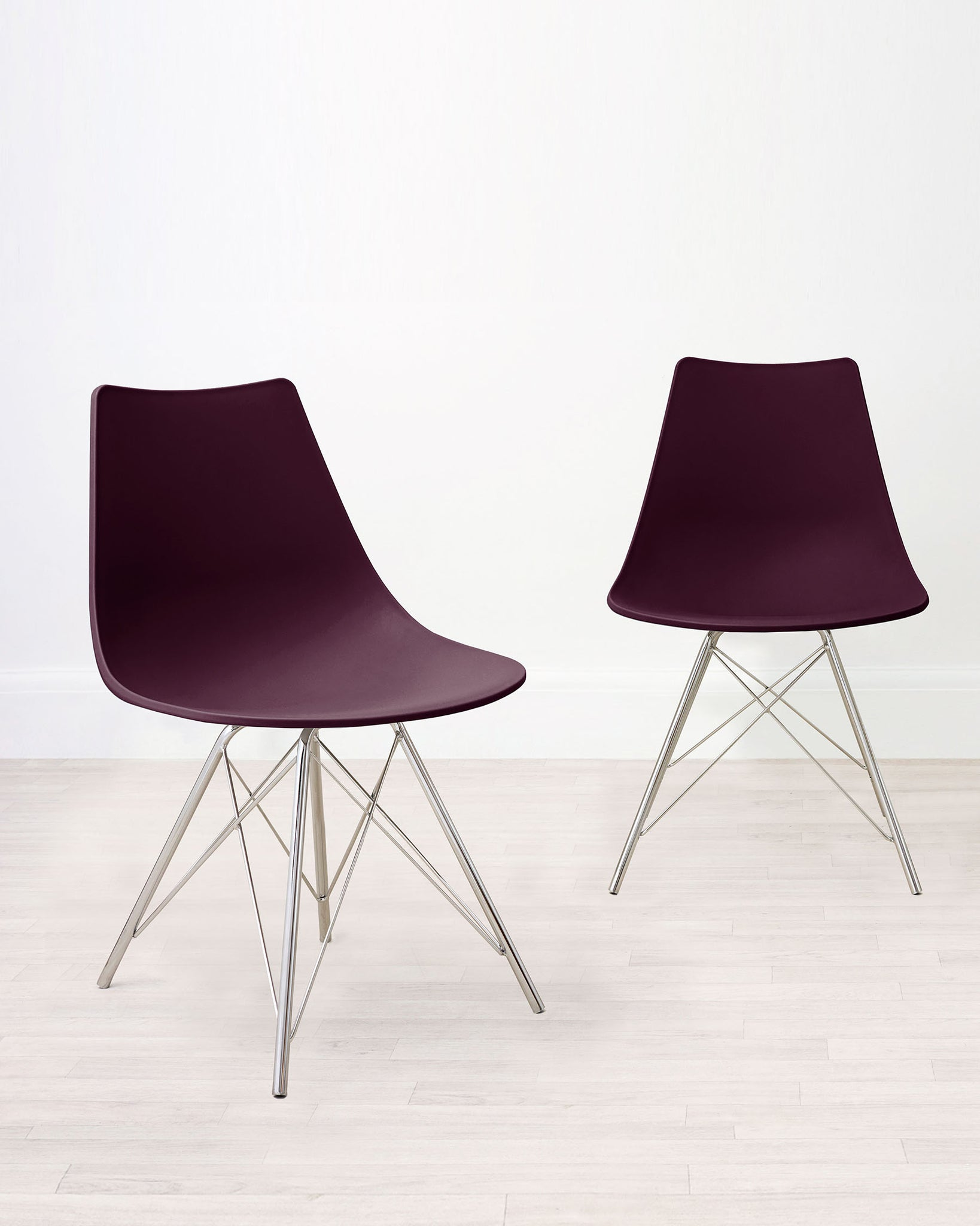 Stylo Mulberry Purple Dining Chair - Set Of 2