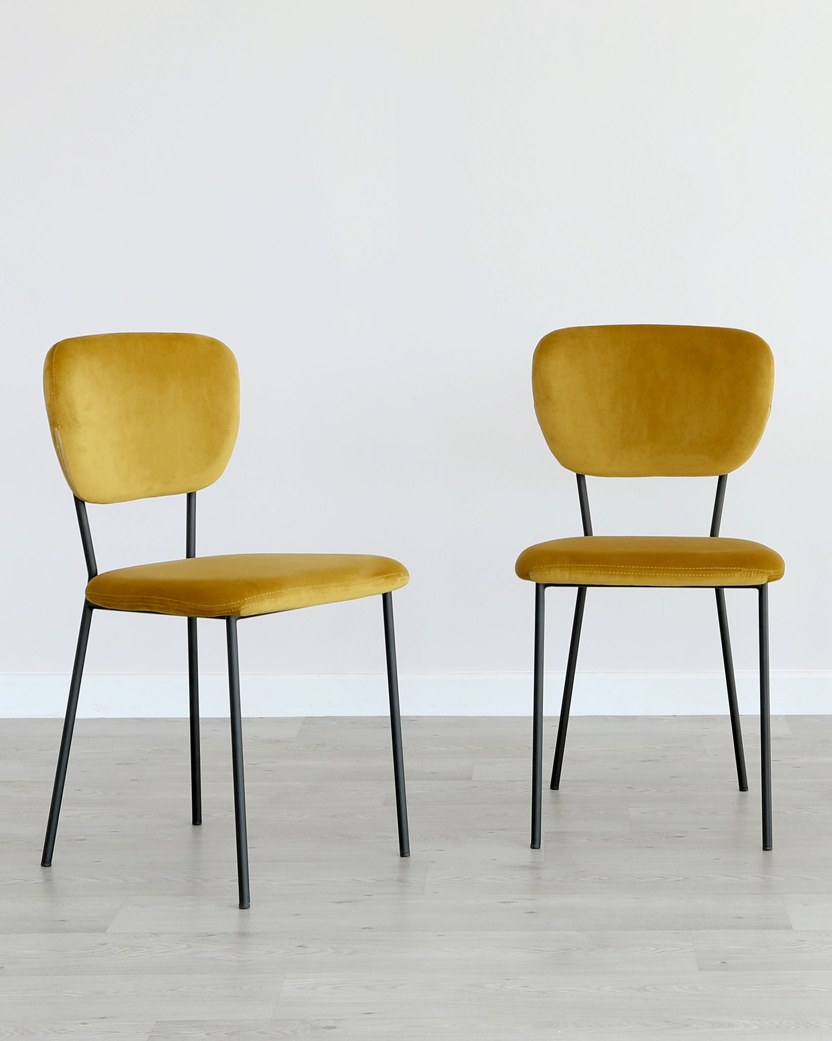 Quinn Mustard Yellow Velvet Dining Chair - Set Of 2