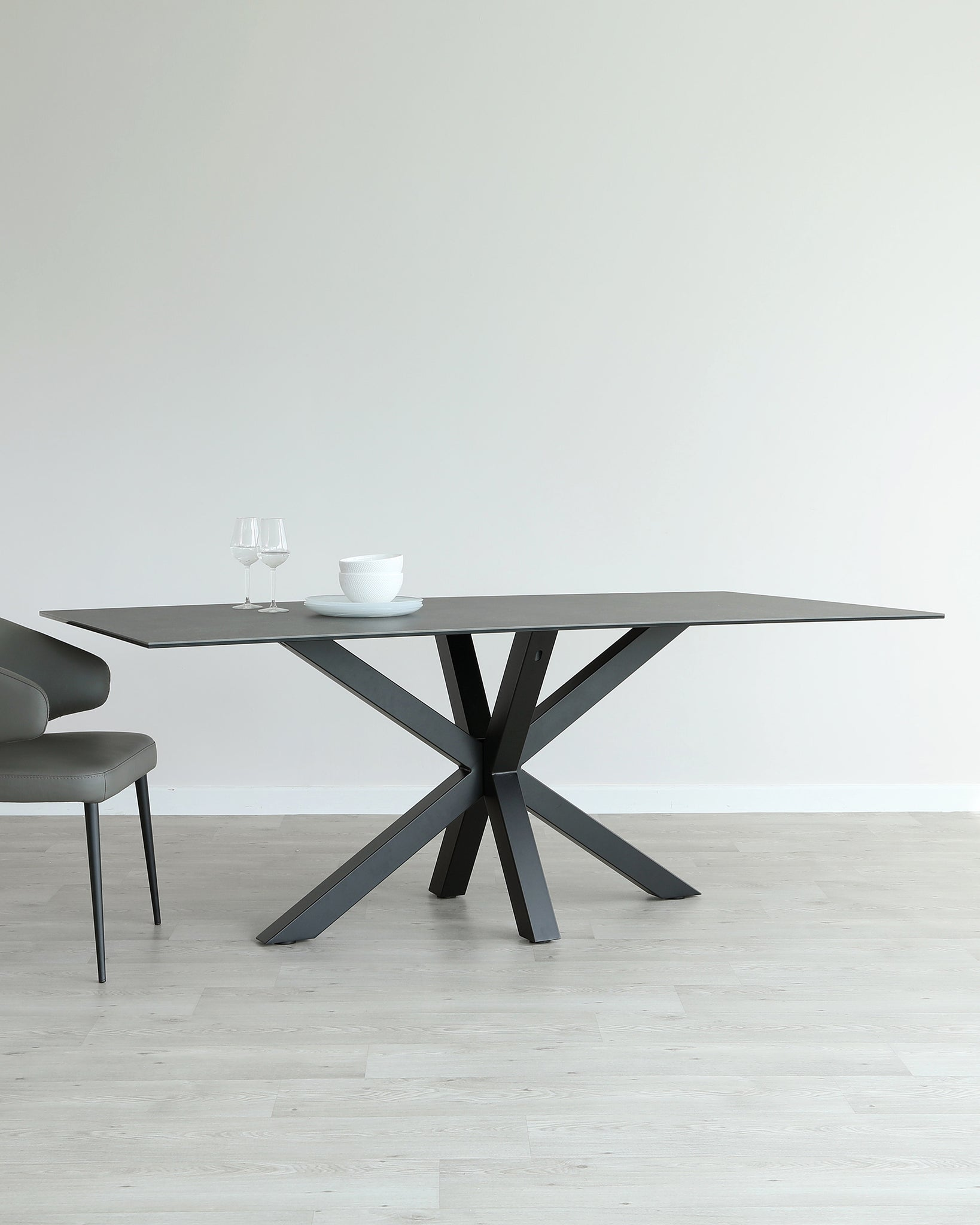 Riley Dark Grey Ceramic Table