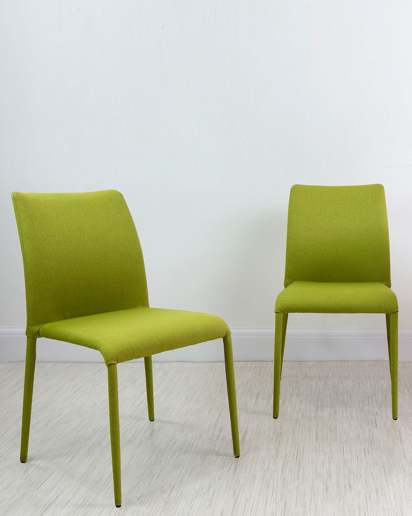 Riva Lime Green Stackable Fabric Dining Chair - Set Of 2