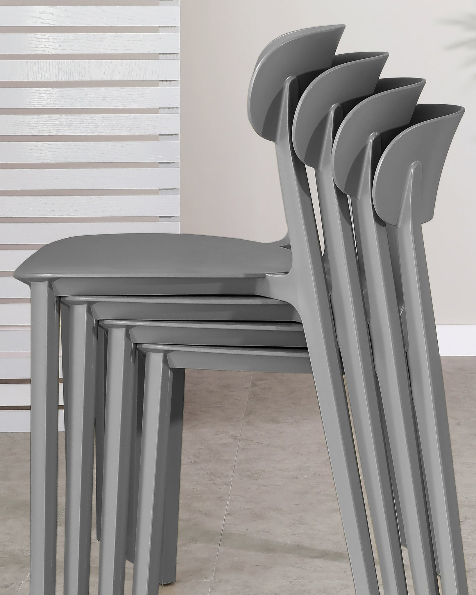 Rosa Dark Grey Garden Chair - Set Of 2