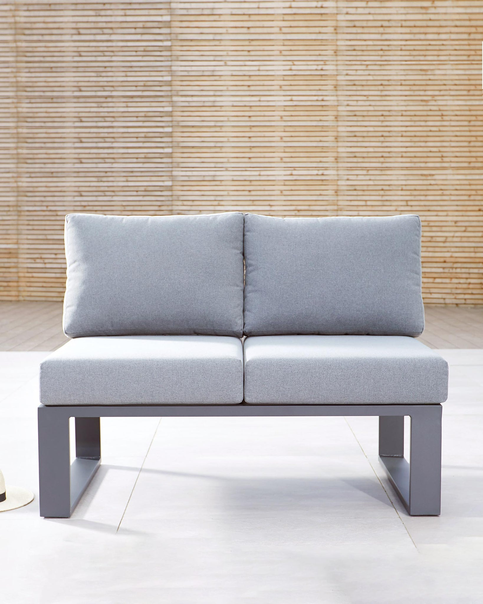 Savannah Grey Garden 2 Seater Modular Sofa