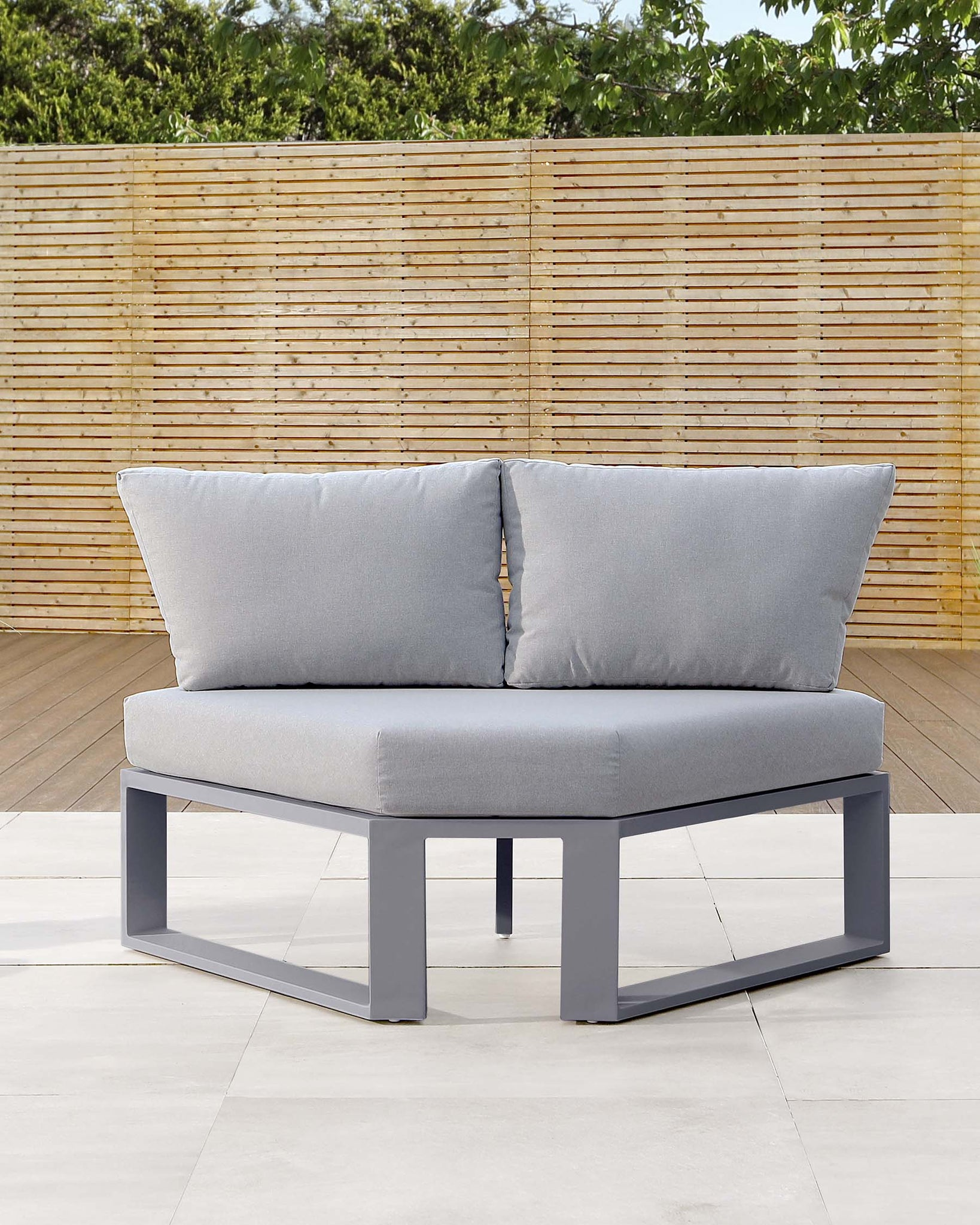 Savannah Grey Garden Large Corner Seat