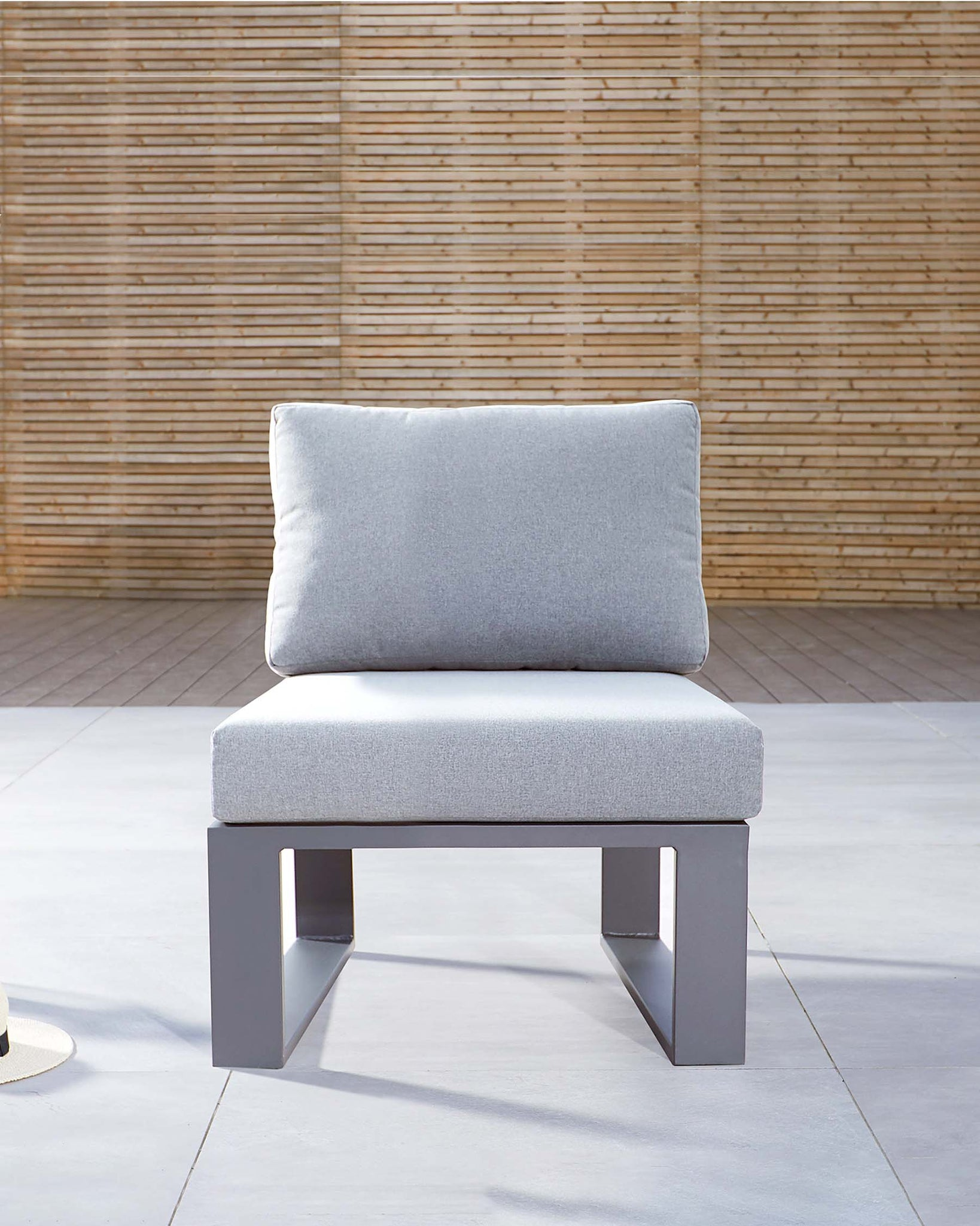 Savannah Grey Aluminium Garden Single Modular Seat