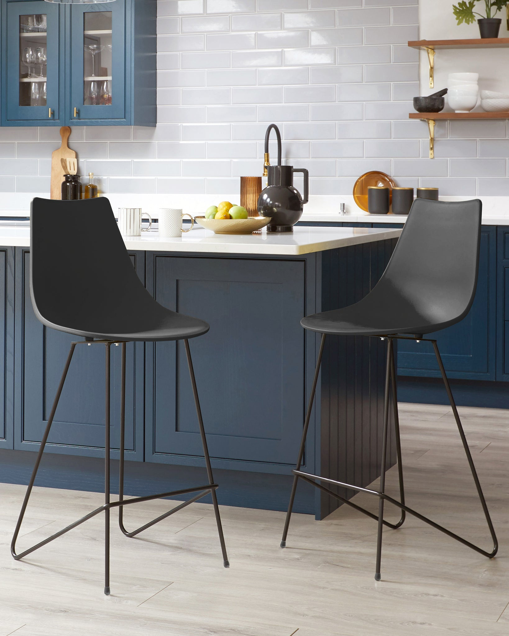 Sawyer Dark Grey Bar Stool - Set Of 2