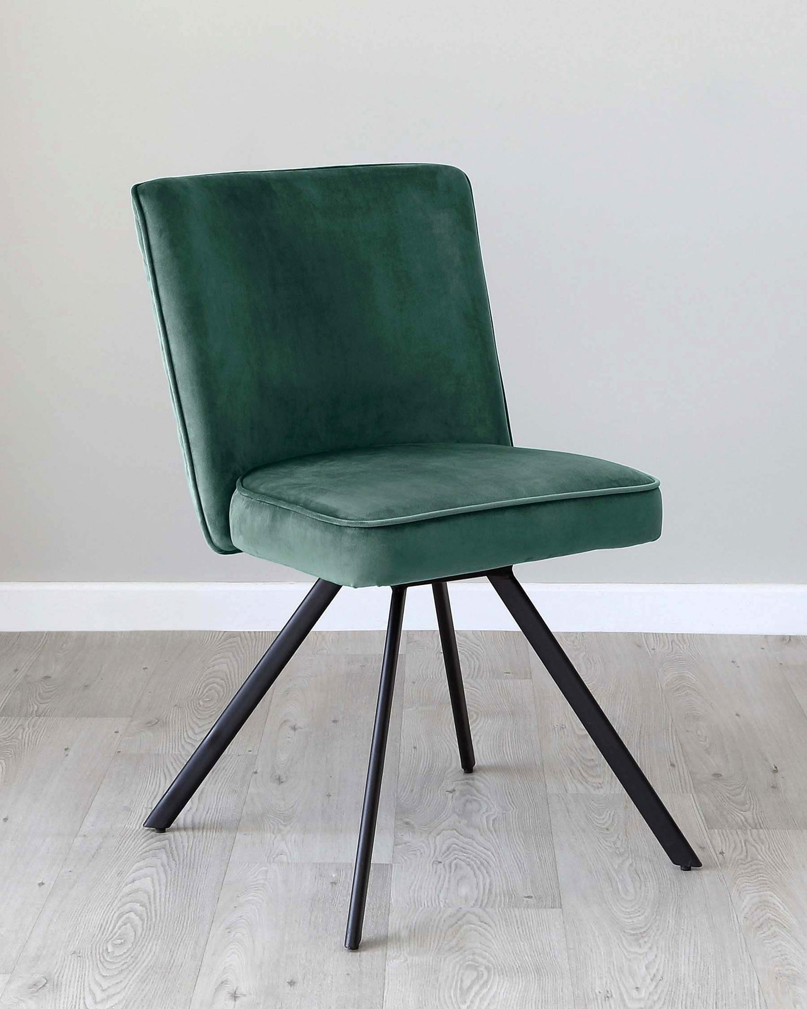 Serena Dark Green Velvet Swivel Chair