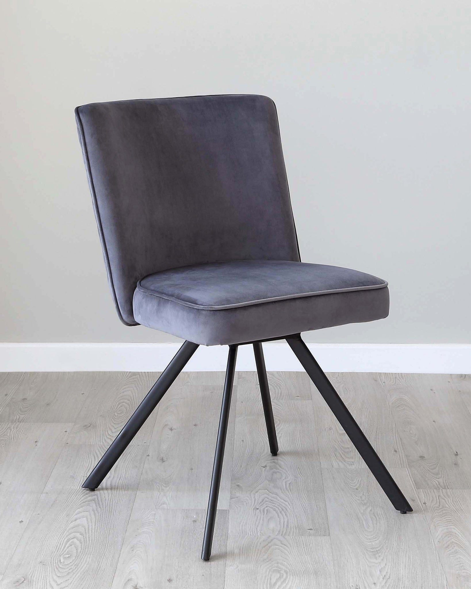 Serena Grey Velvet Swivel Chair