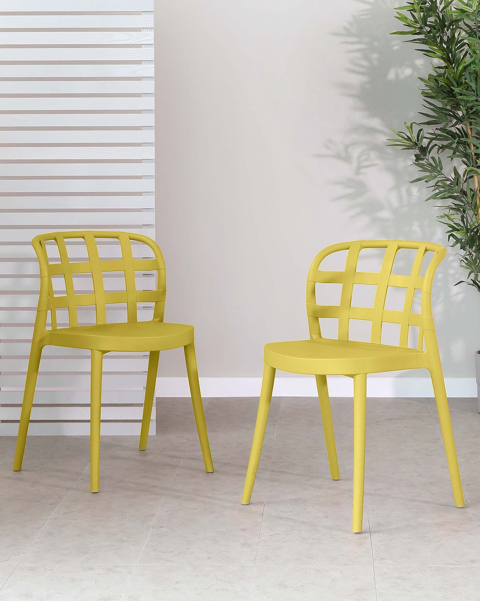 Skye Mustard Garden Chair - Set Of 2