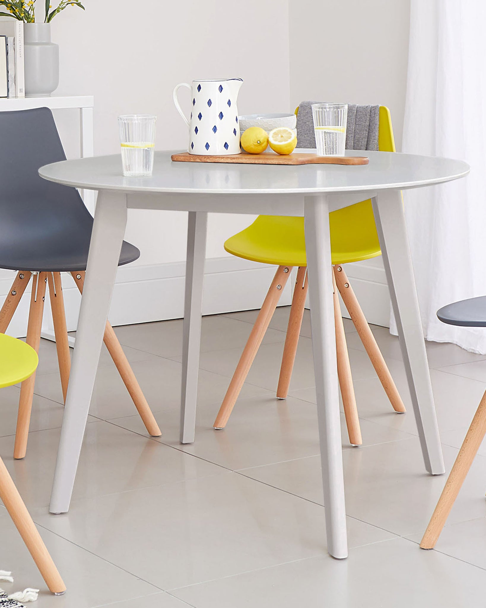 Terni Grey Round Dining Table