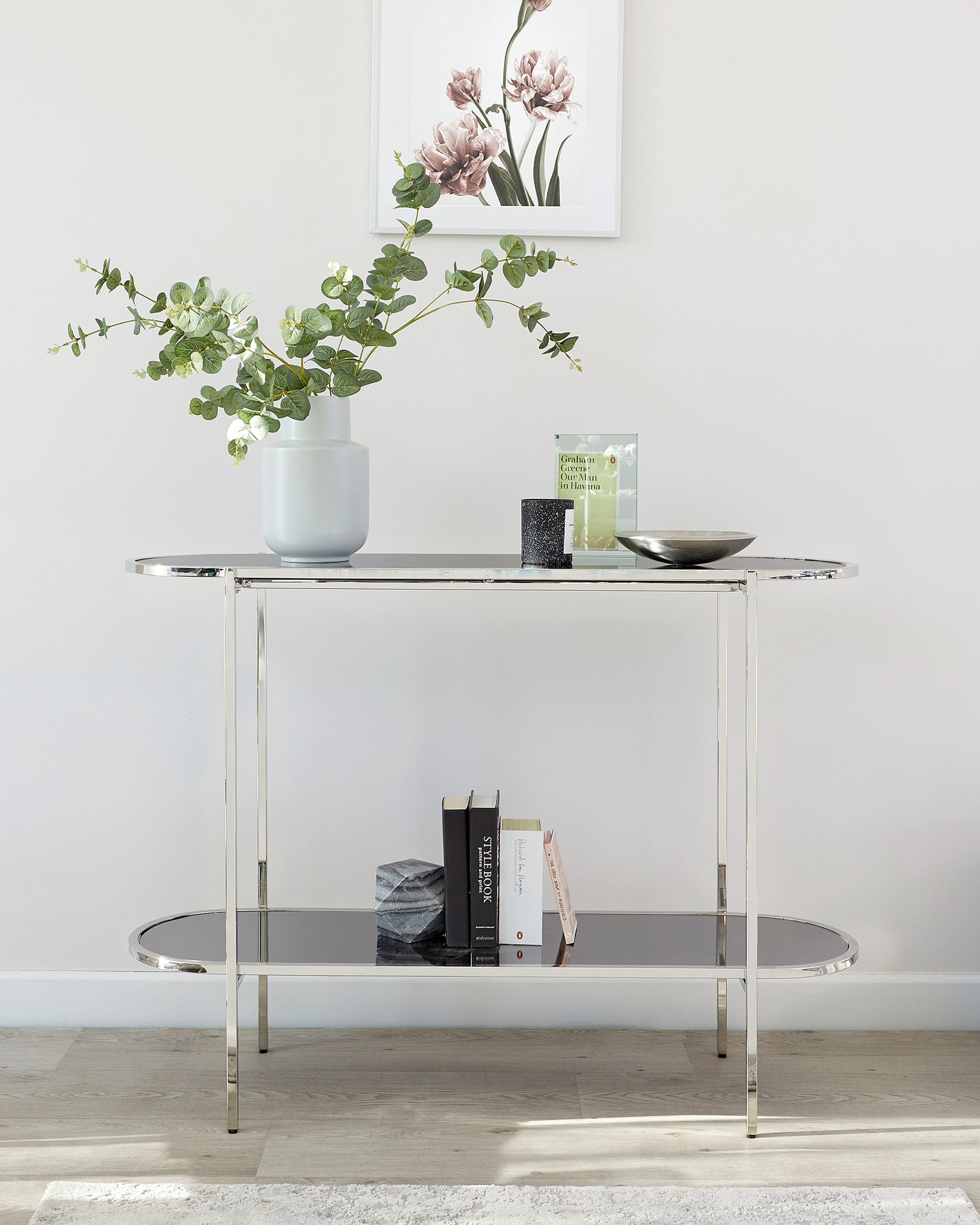 Thea Smoked Mirror Console Table