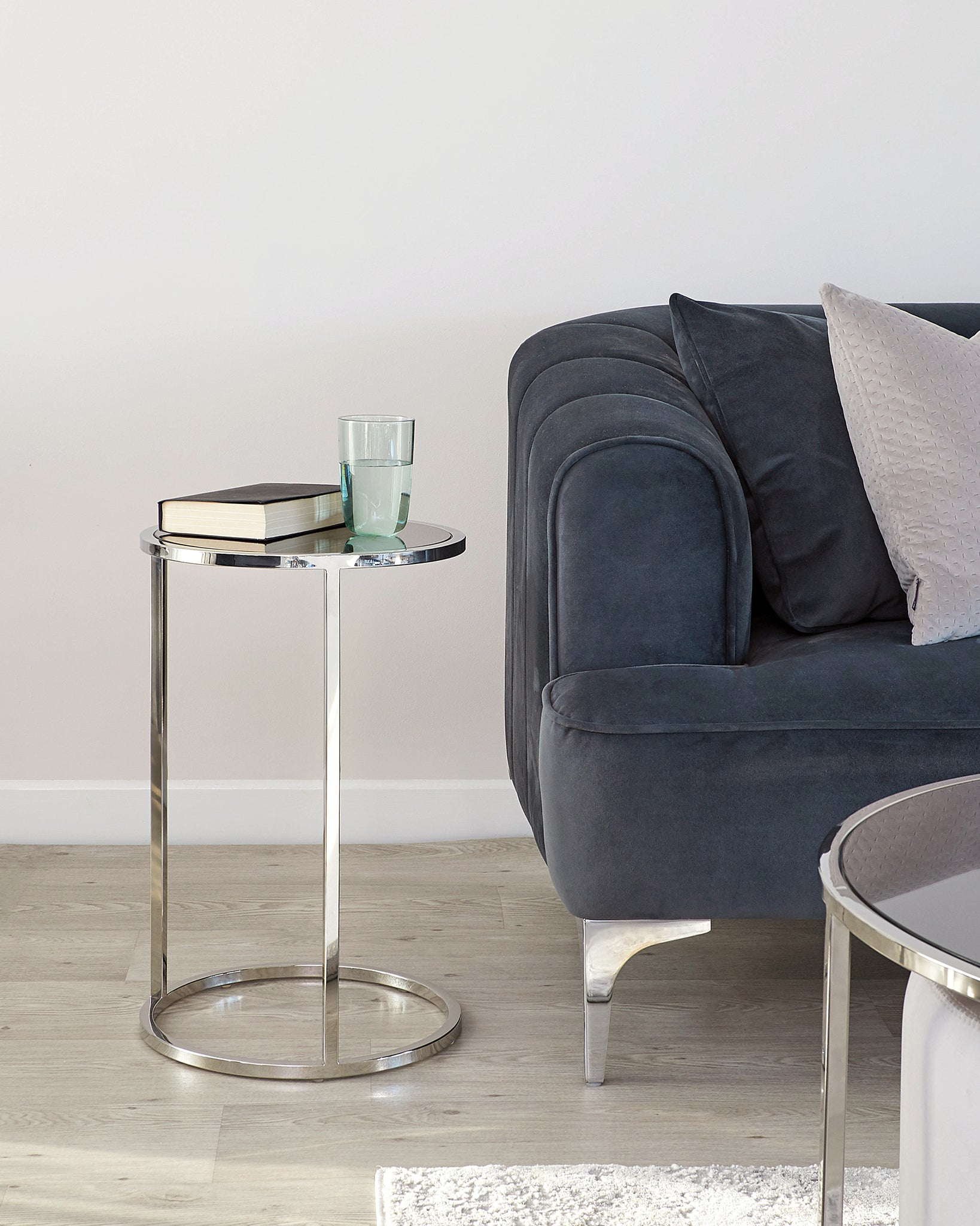 Thea Smoked Mirror Tray Table