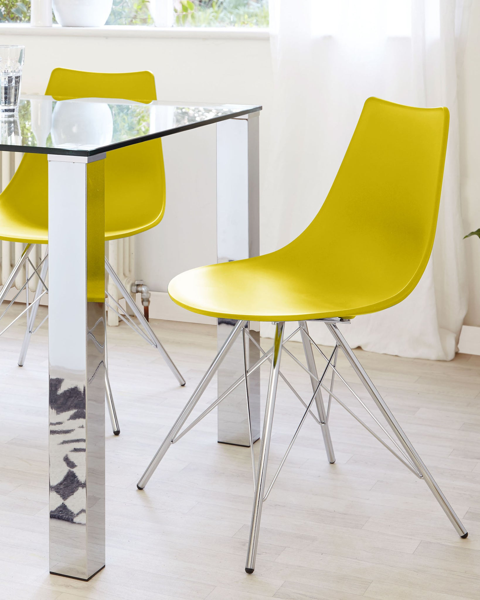 Stylo Mustard Yellow Dining Chair - Set Of 2