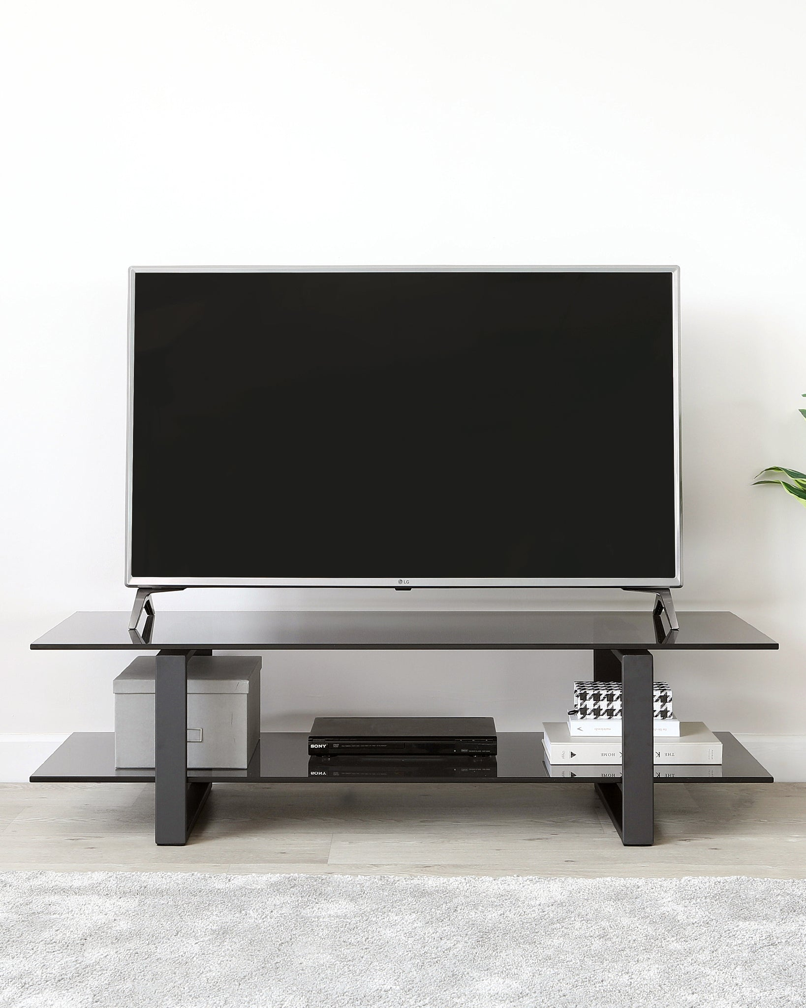 Tiva Smoked Glass Tv Unit