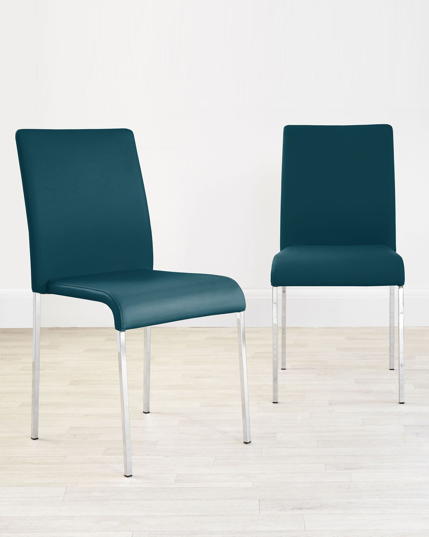 Tori Modern Teal Faux Leather Dining Chair - Set Of 2