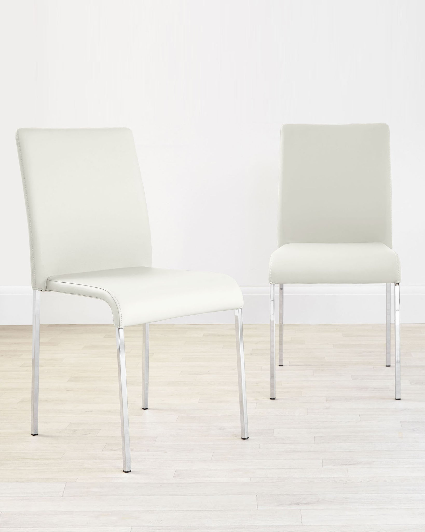 Tori Modern White Faux Leather Dining Chair - Set Of 2