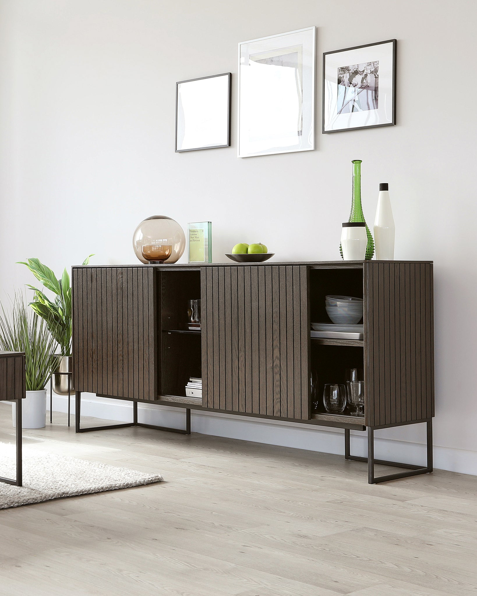 Toronto Dark Wood Sideboard