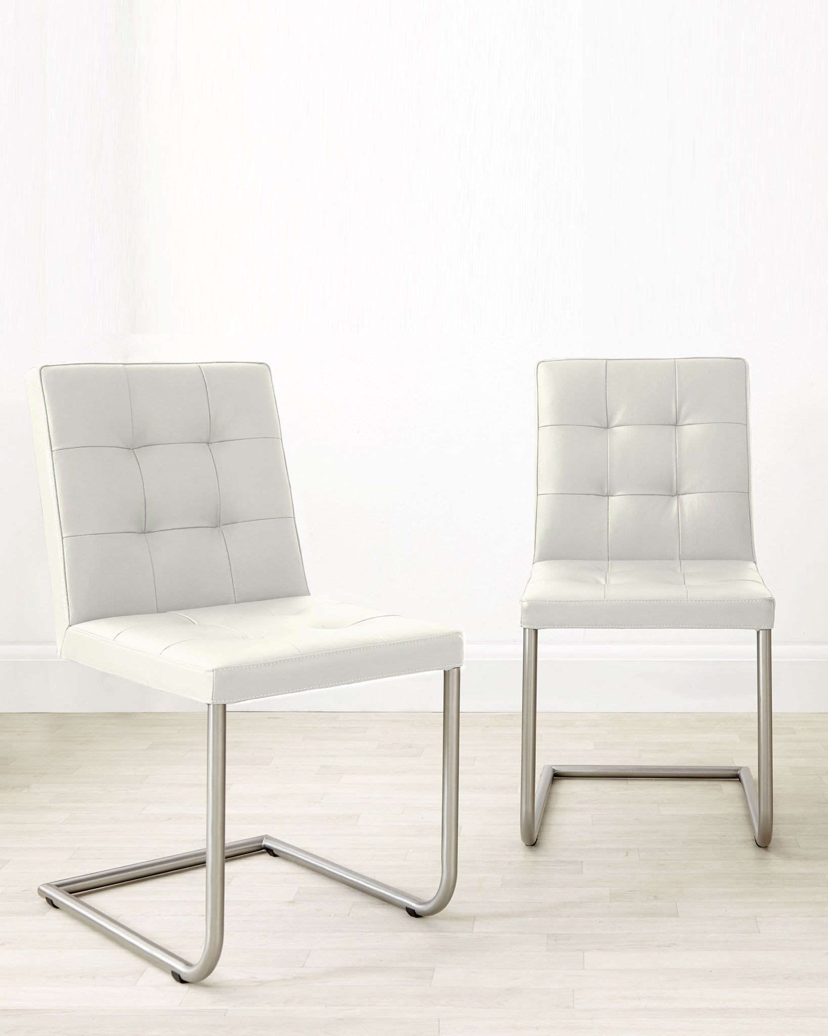 Danni Real Leather White Dining Chair - Set Of 2