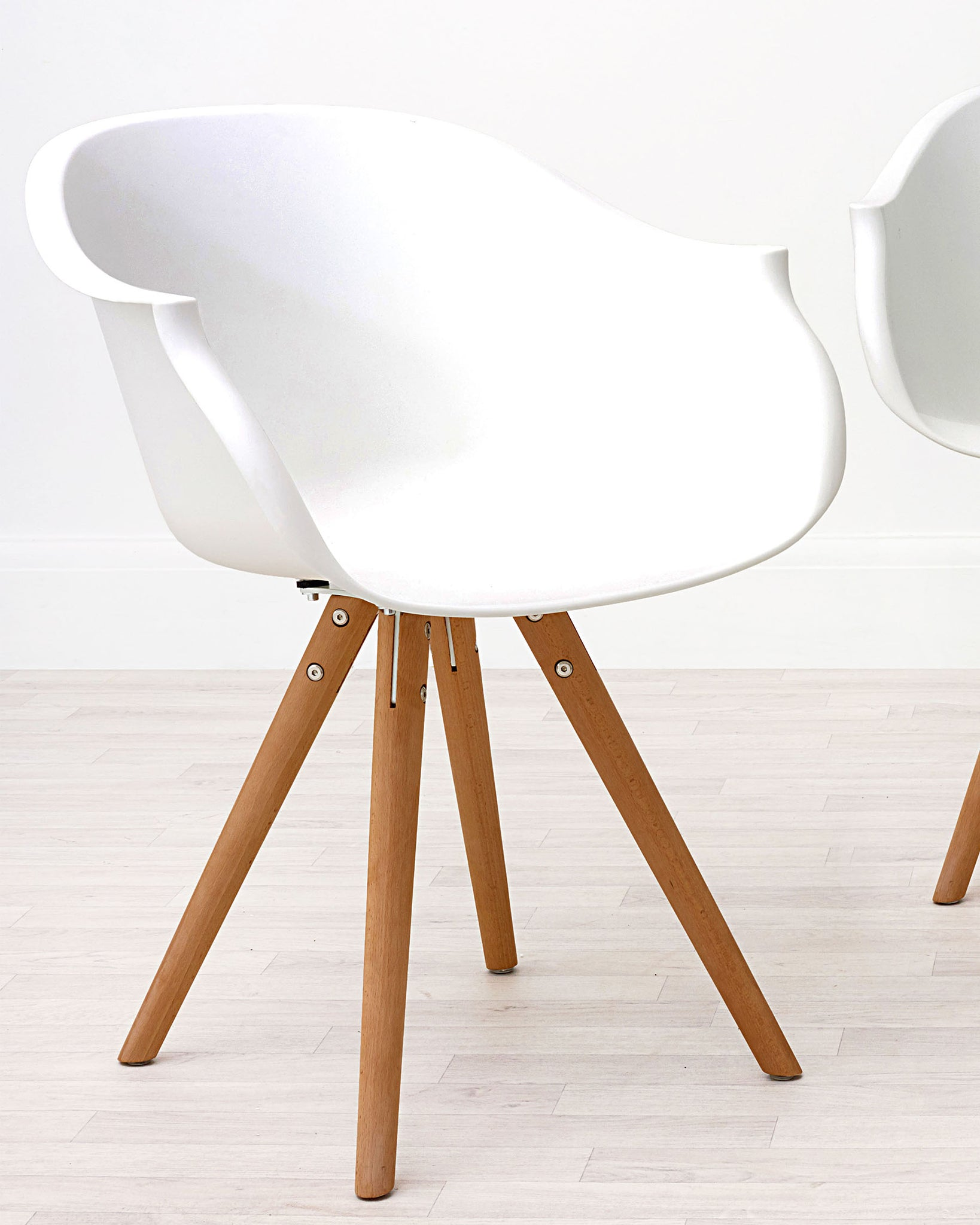 Form White Faux Leather Cantilever Dining Armchair - Set Of 2