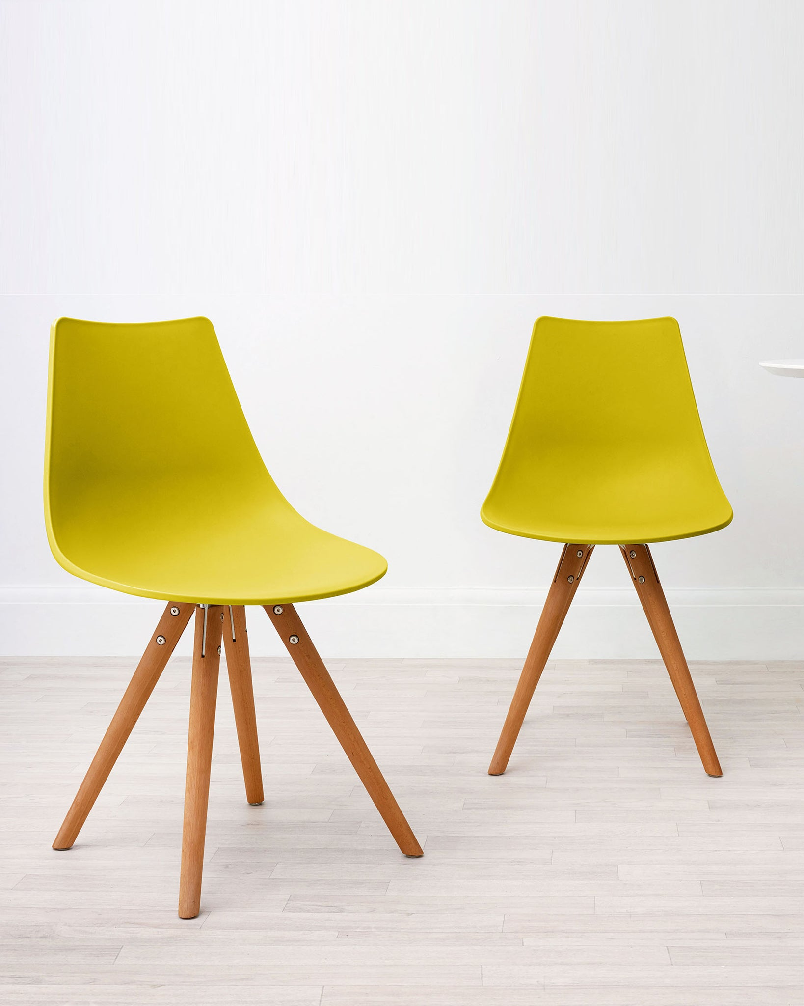 Finn Mustard Yellow Dining Chair - Set Of 2