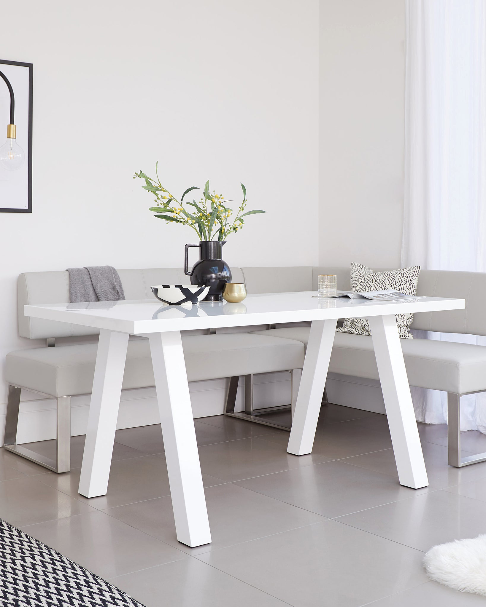 Zen White Gloss 6 Seater Dining Table