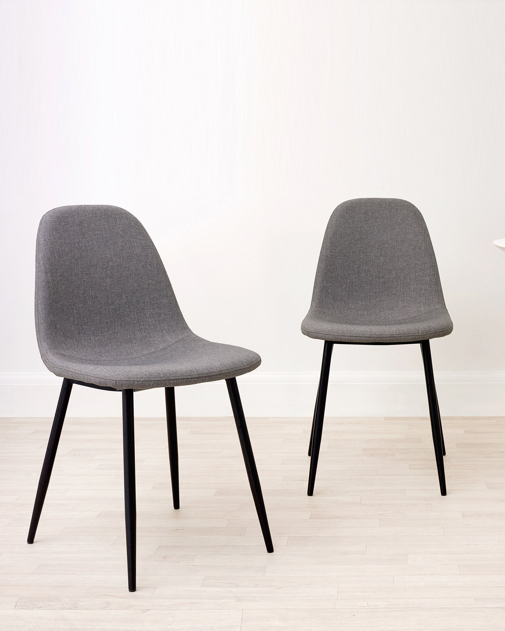Zilo Mid Grey Fabric Dining Chair - Set Of 2