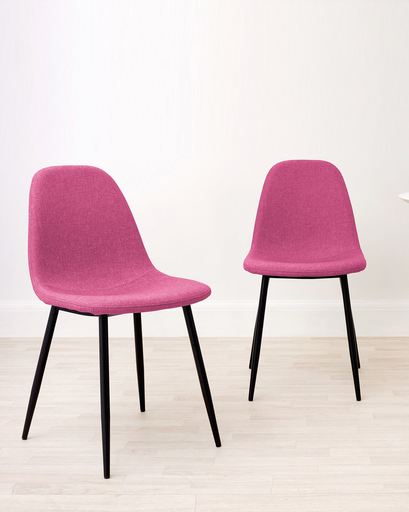 Zilo Fuchsia Pink Fabric Dining Chair - Set Of 2