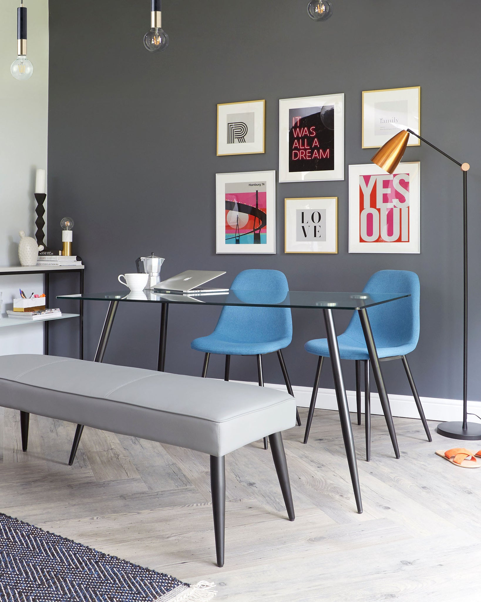 Zilo Black And Glass 4 To 6 Seater Dining Table