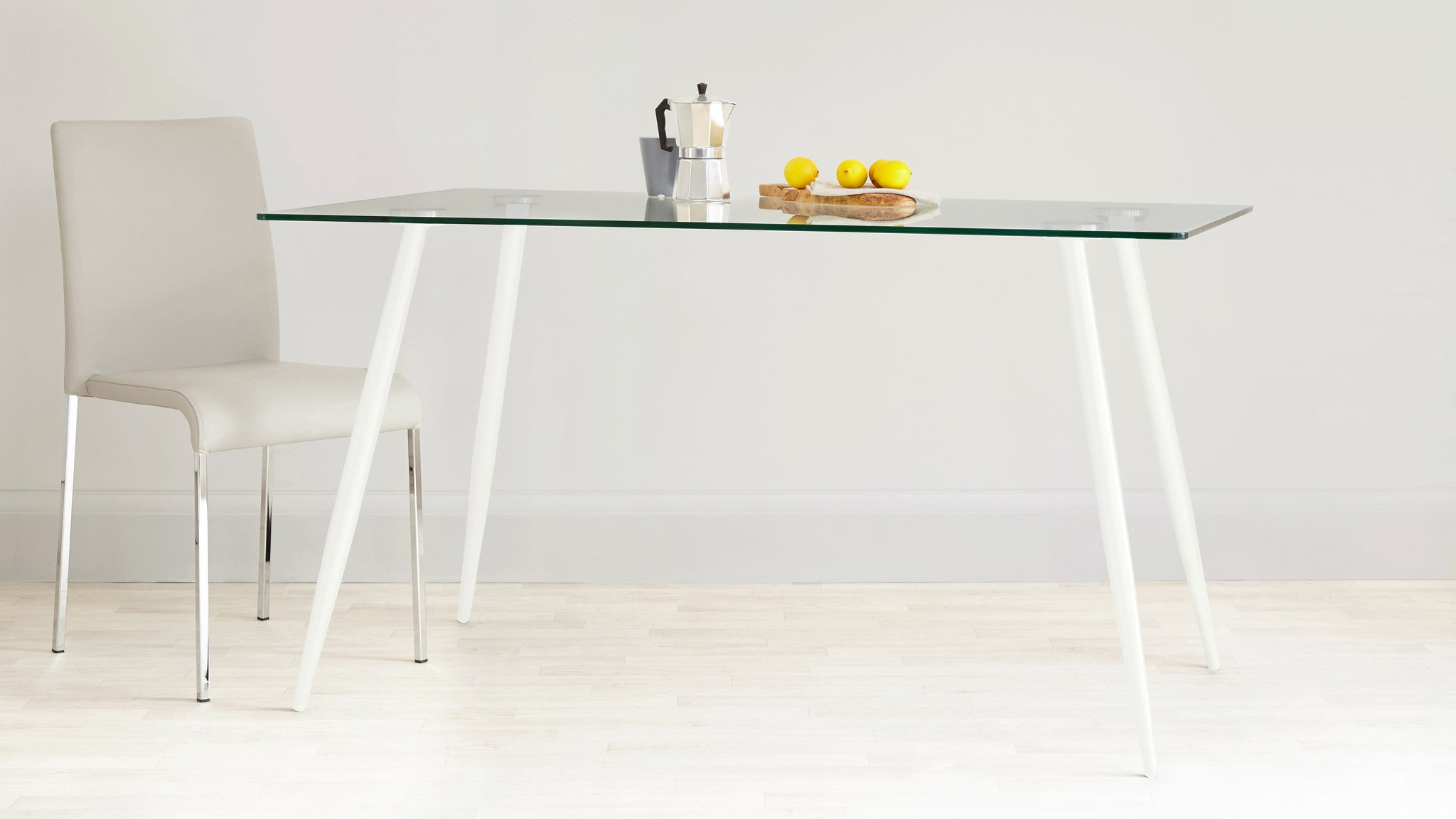 Zilo Glass Table And Ida 4 To 6 Seater Set