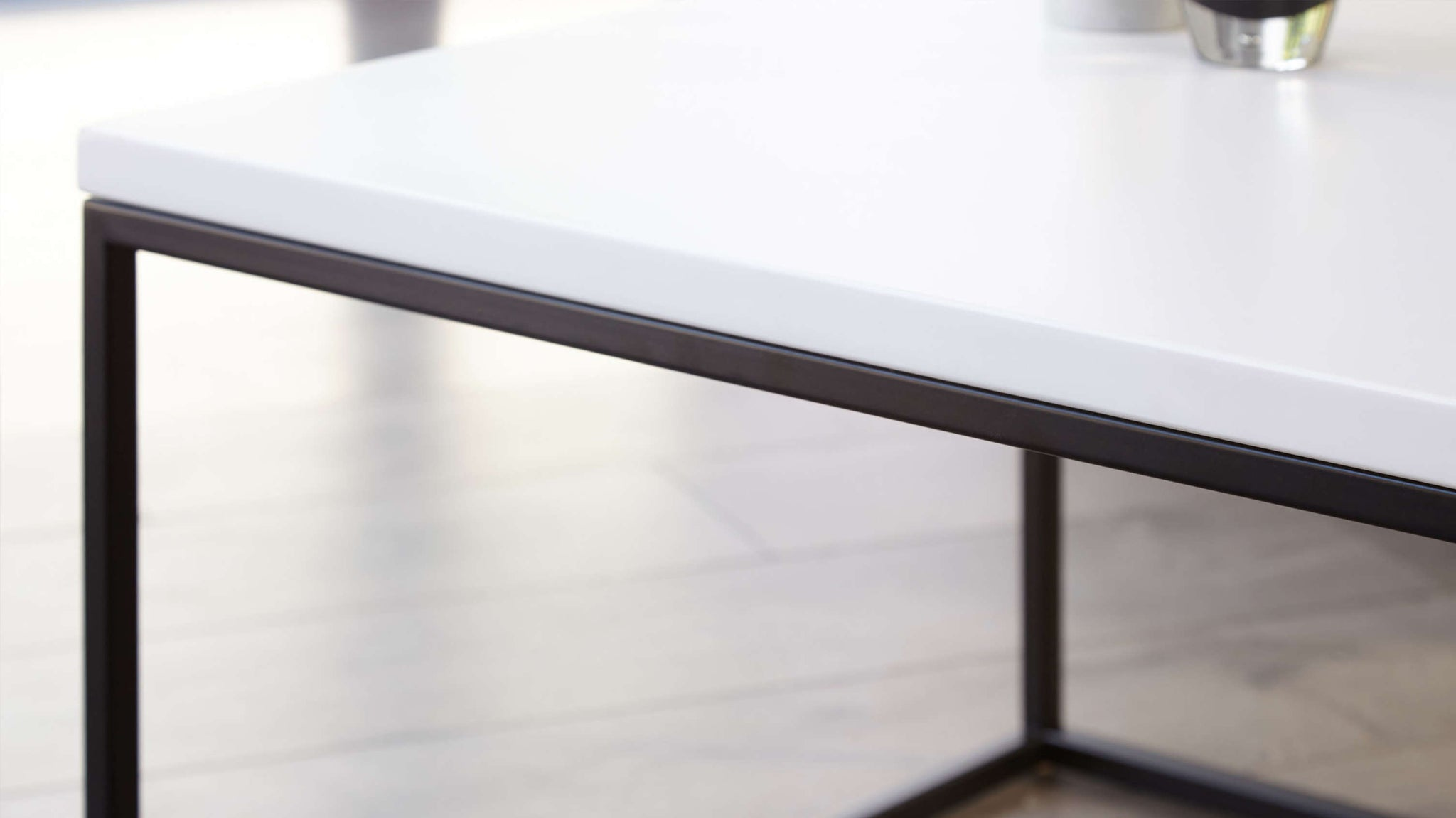 Matt white finish coffee table
