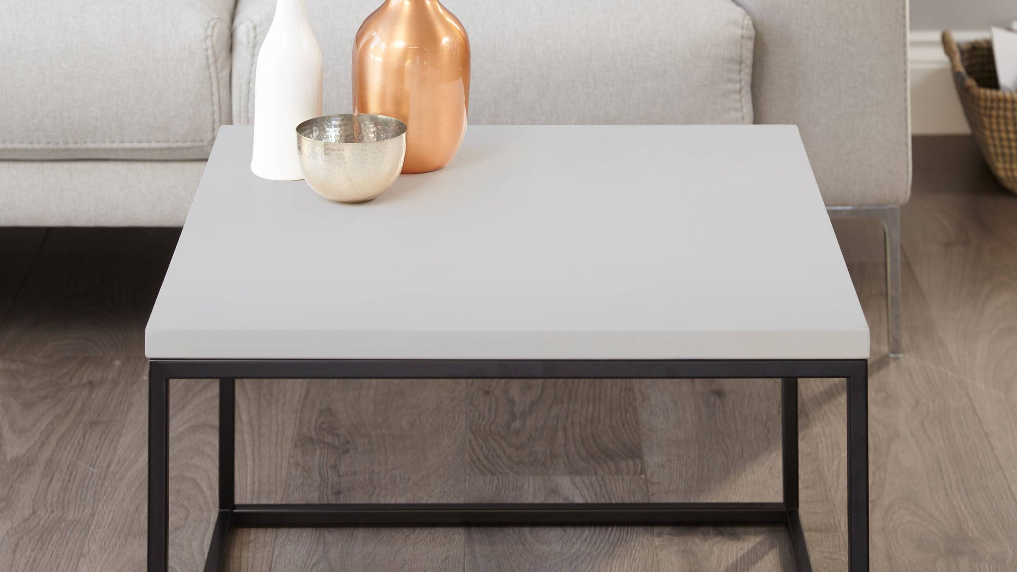 Simple stylish grey coffee table
