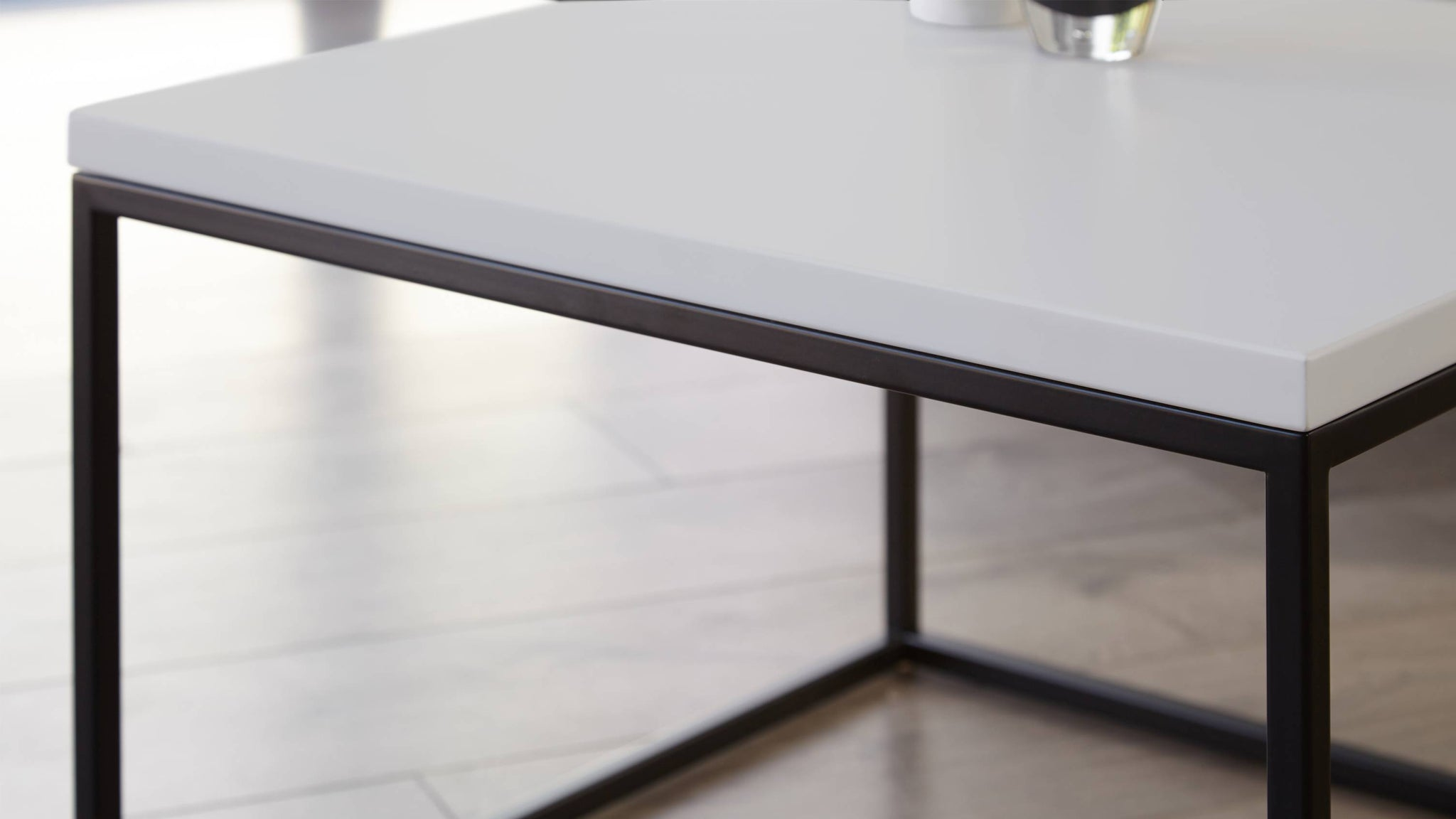 Square contemporary grey coffee table