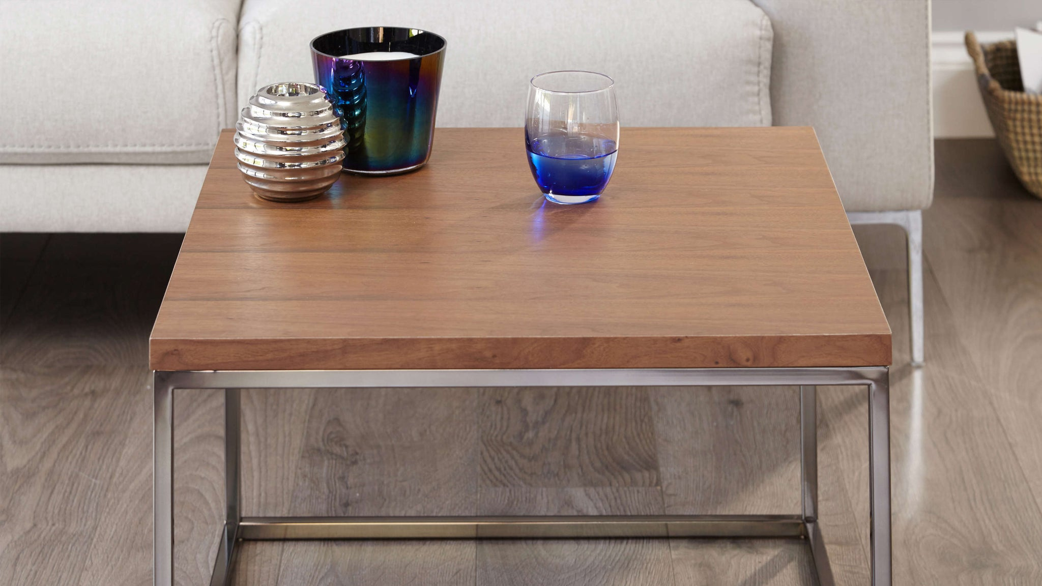 Wood finish coffee table