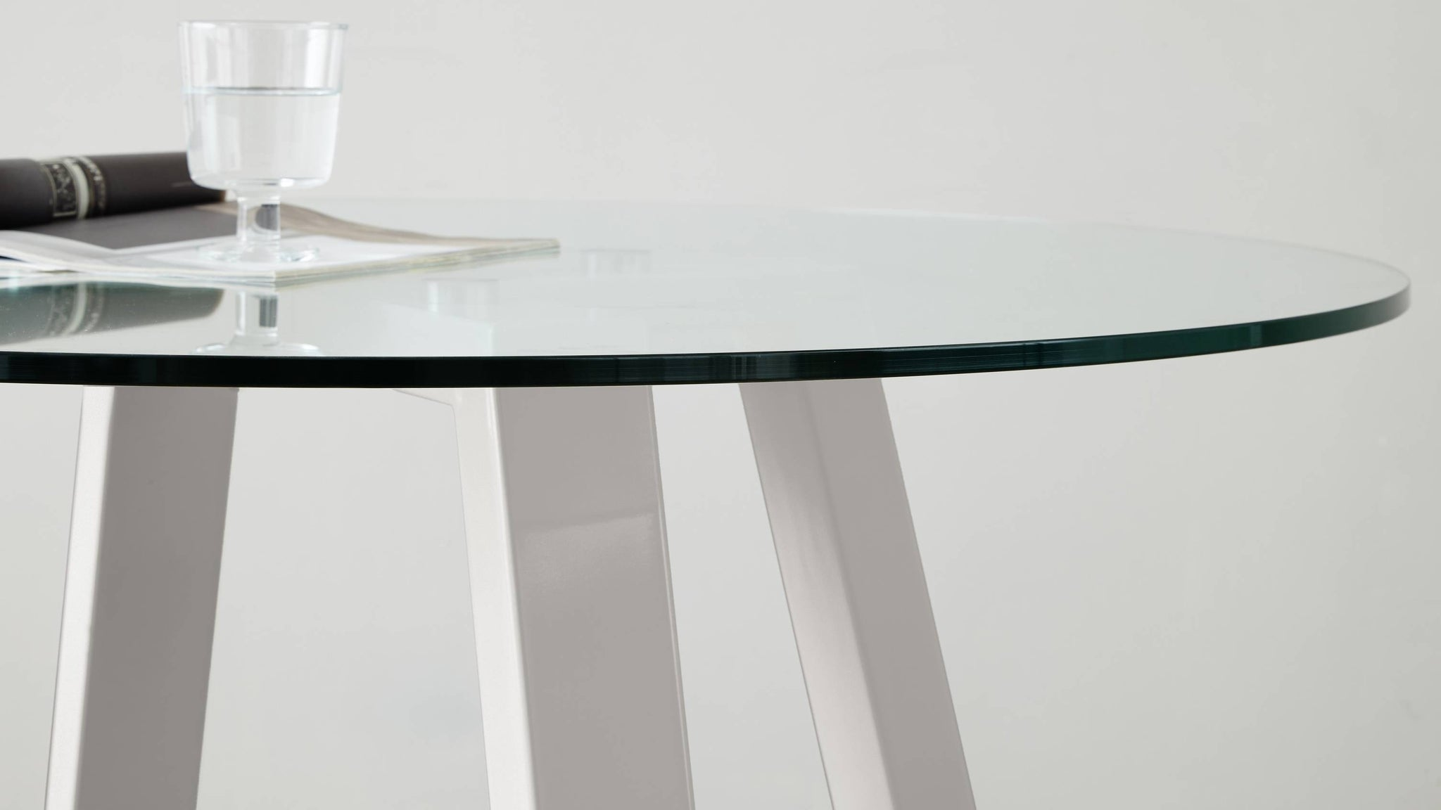 Study glass table