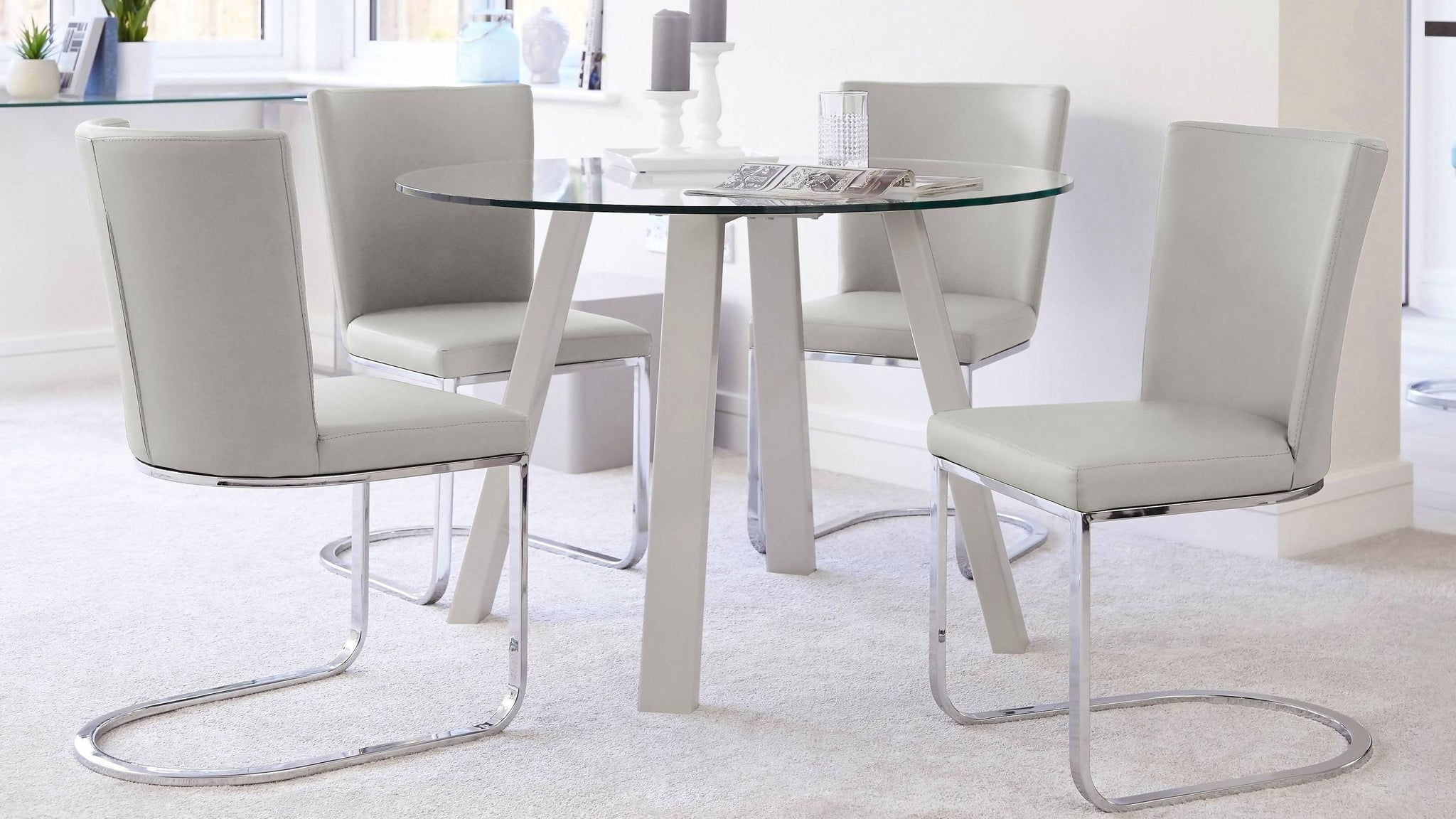Cool grey dining set
