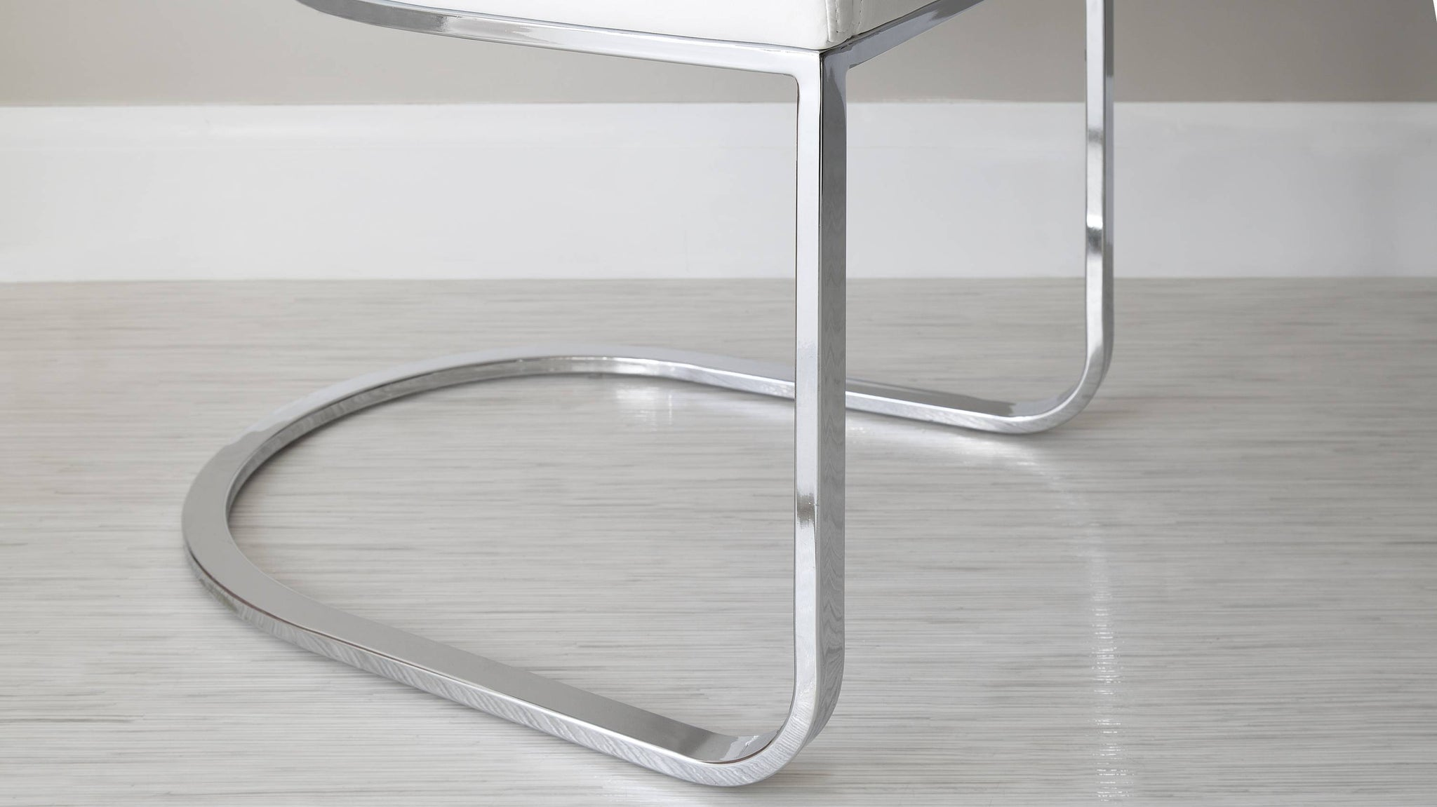 Chrome Cantilever Dining Chair