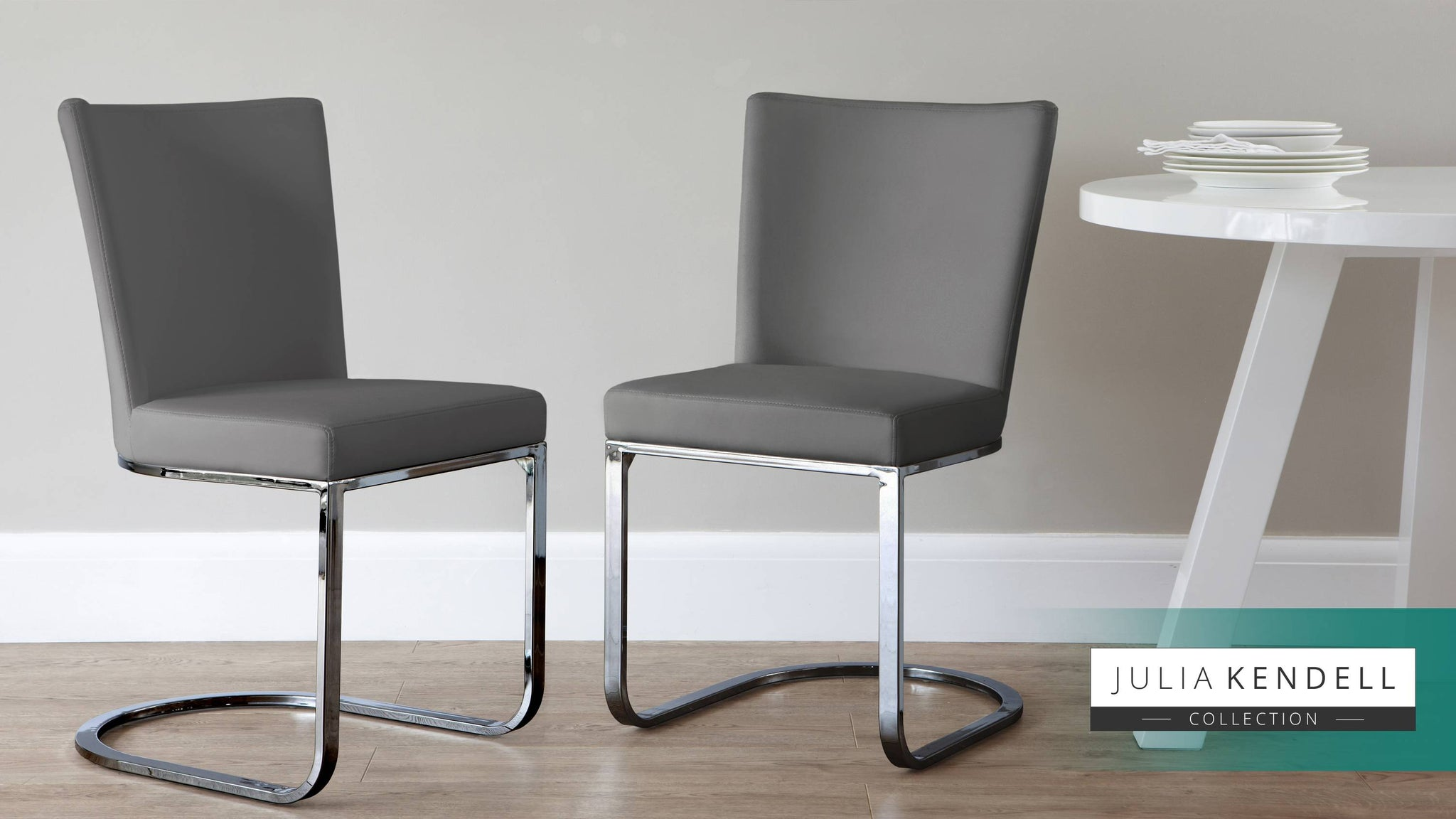 comfortable chrome grey dining chairs