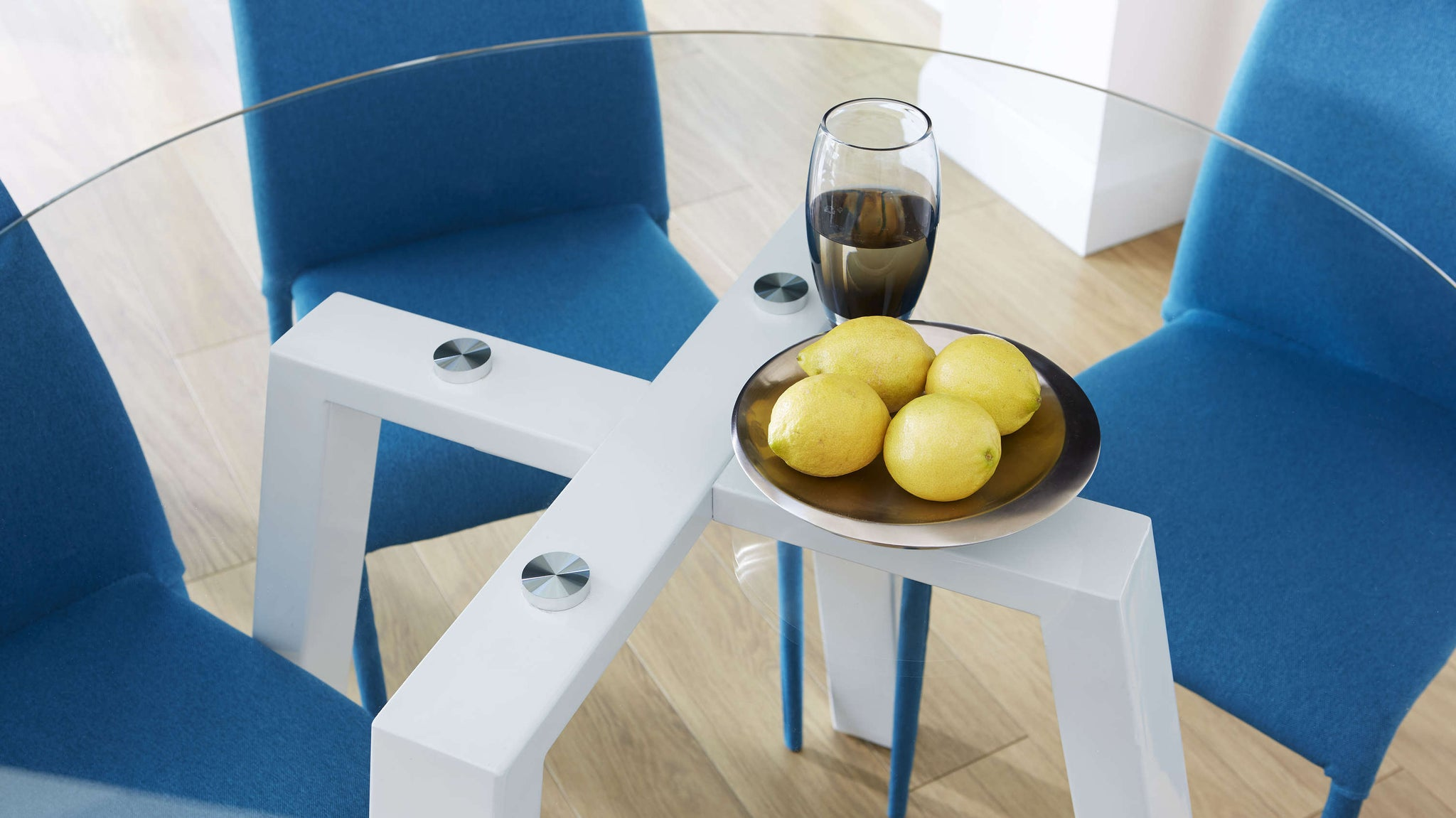Modern glass table dining set