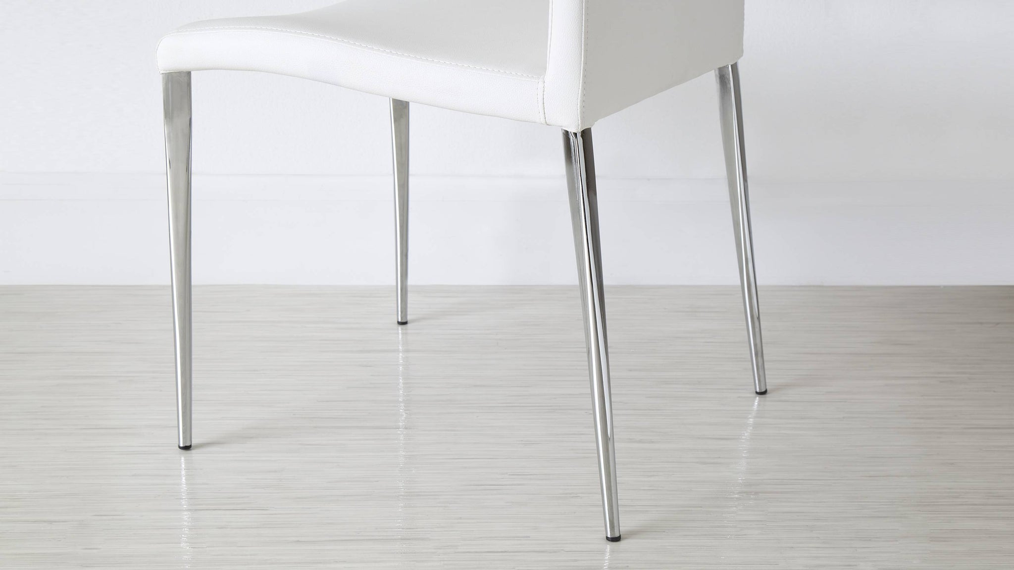Tapered Legged Dining Chairs with Floor Protectors