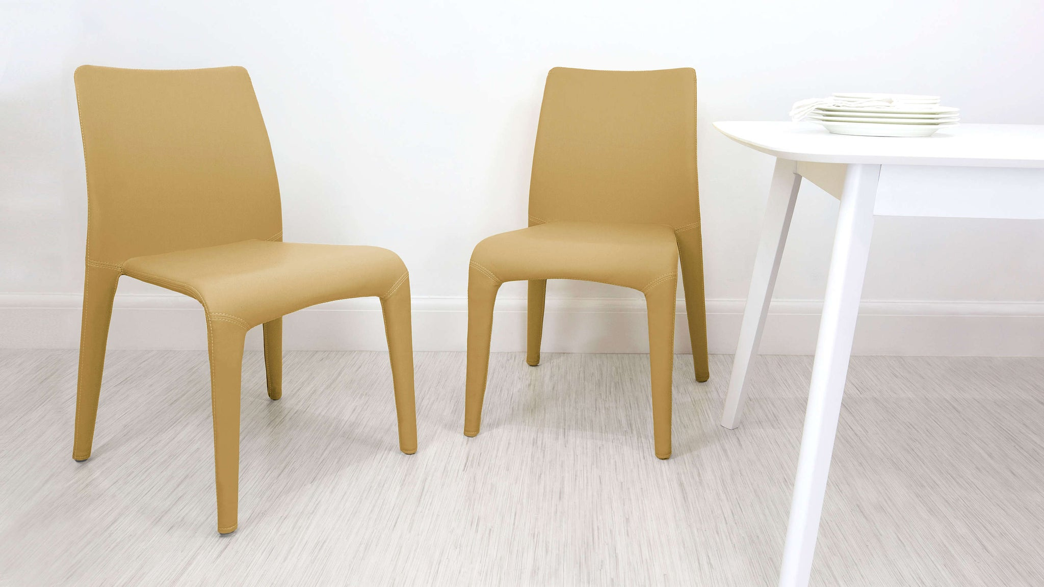 Yellow Stackable Dining Chairs