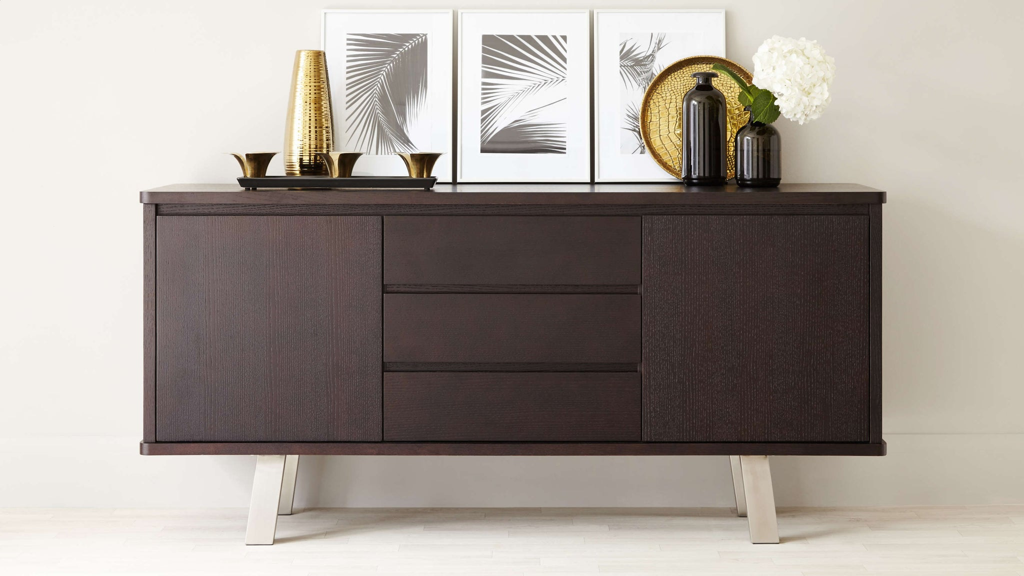 Dark Wood Sideboard