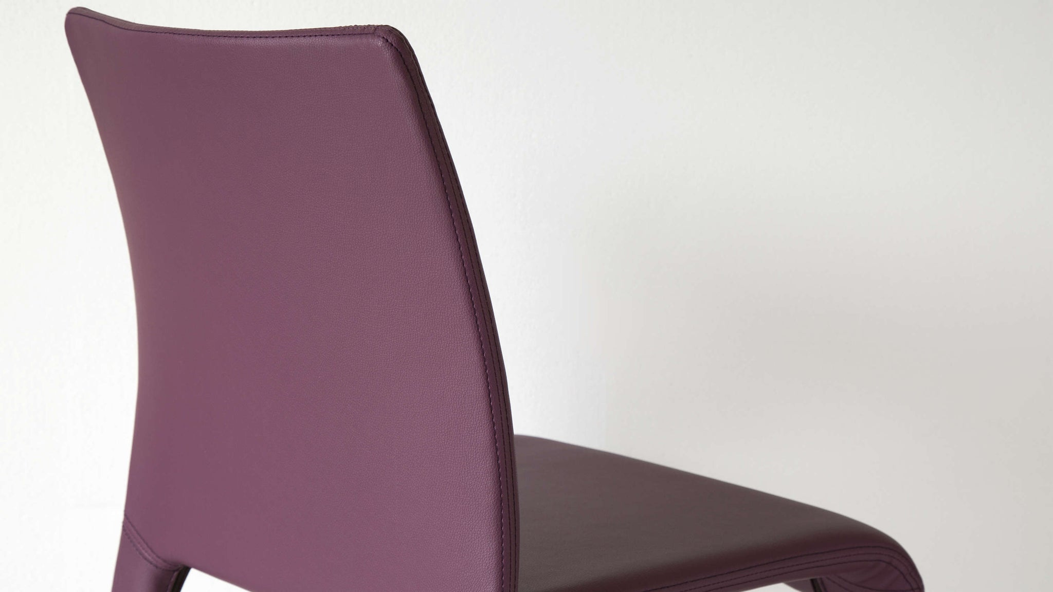 Stylish Dining Chair Purple Faux Leather
