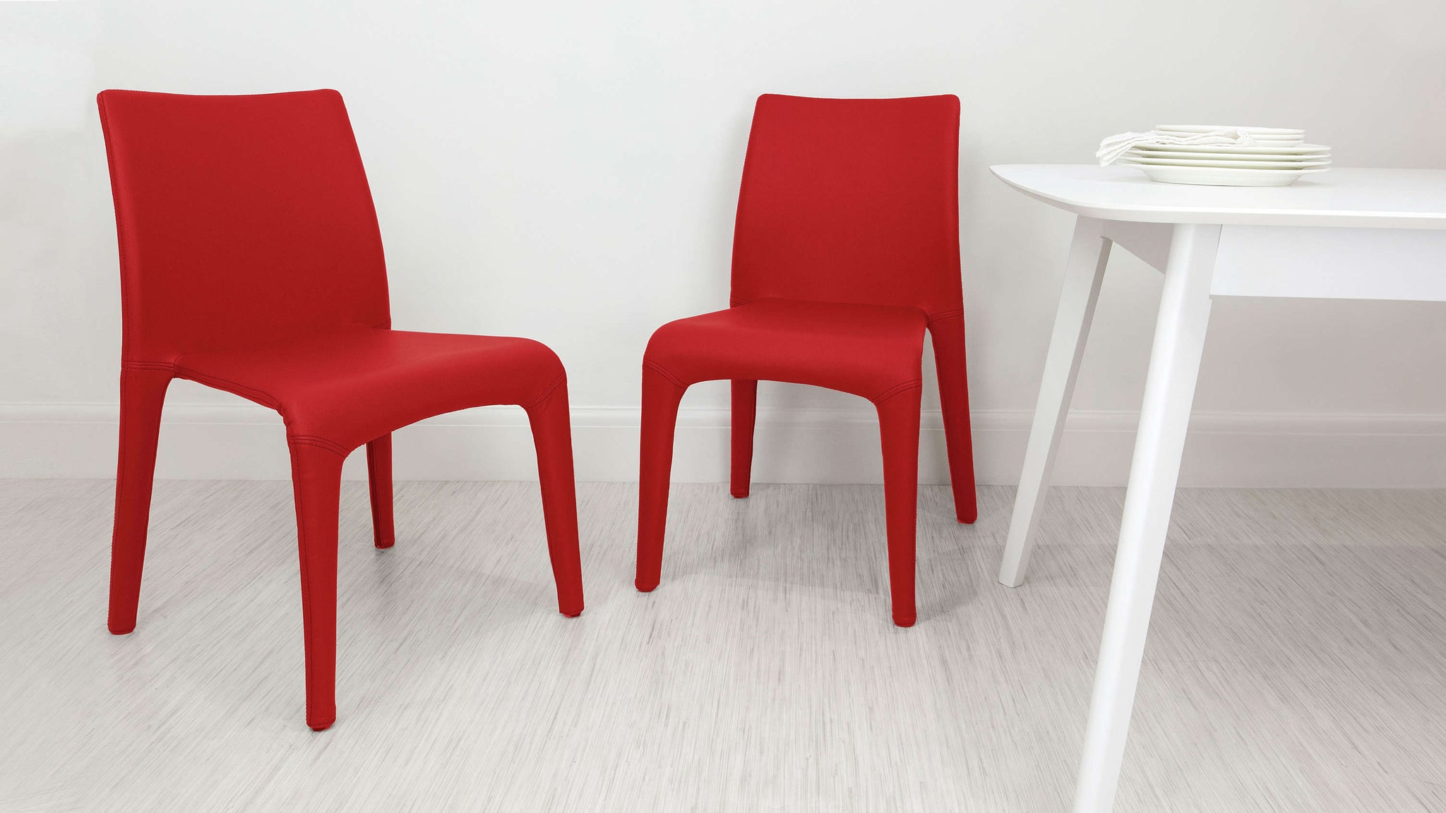 Stackable Red Dining Chairs