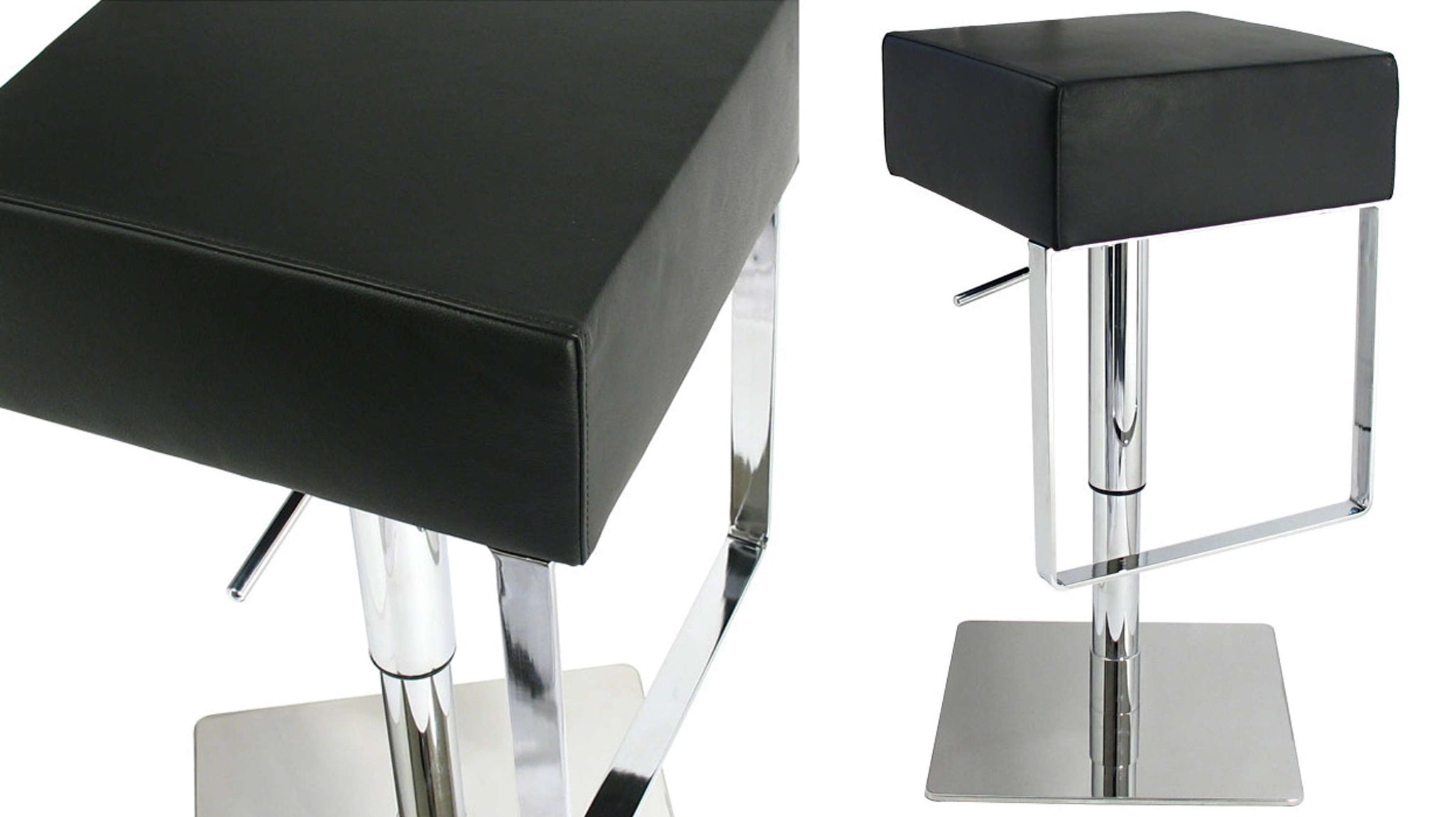 Contemporary Gas Lift Bar Stool in Black
