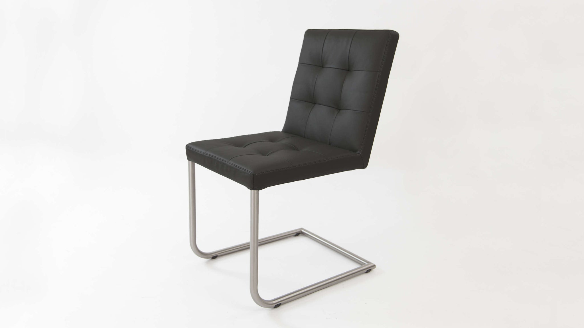 Real Leather Cantilever Dining Chairs
