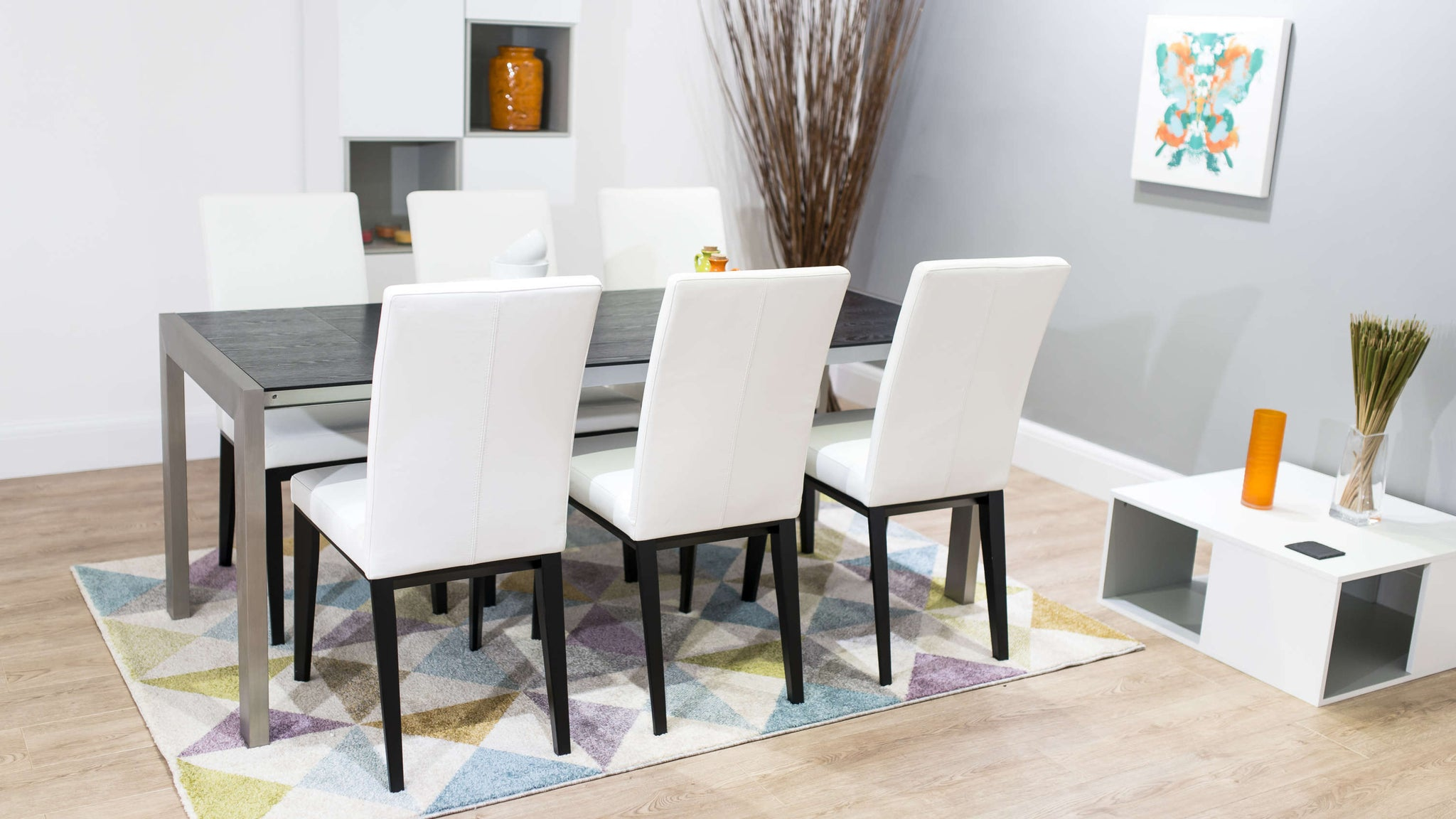 Stylish Black and White Dining Set